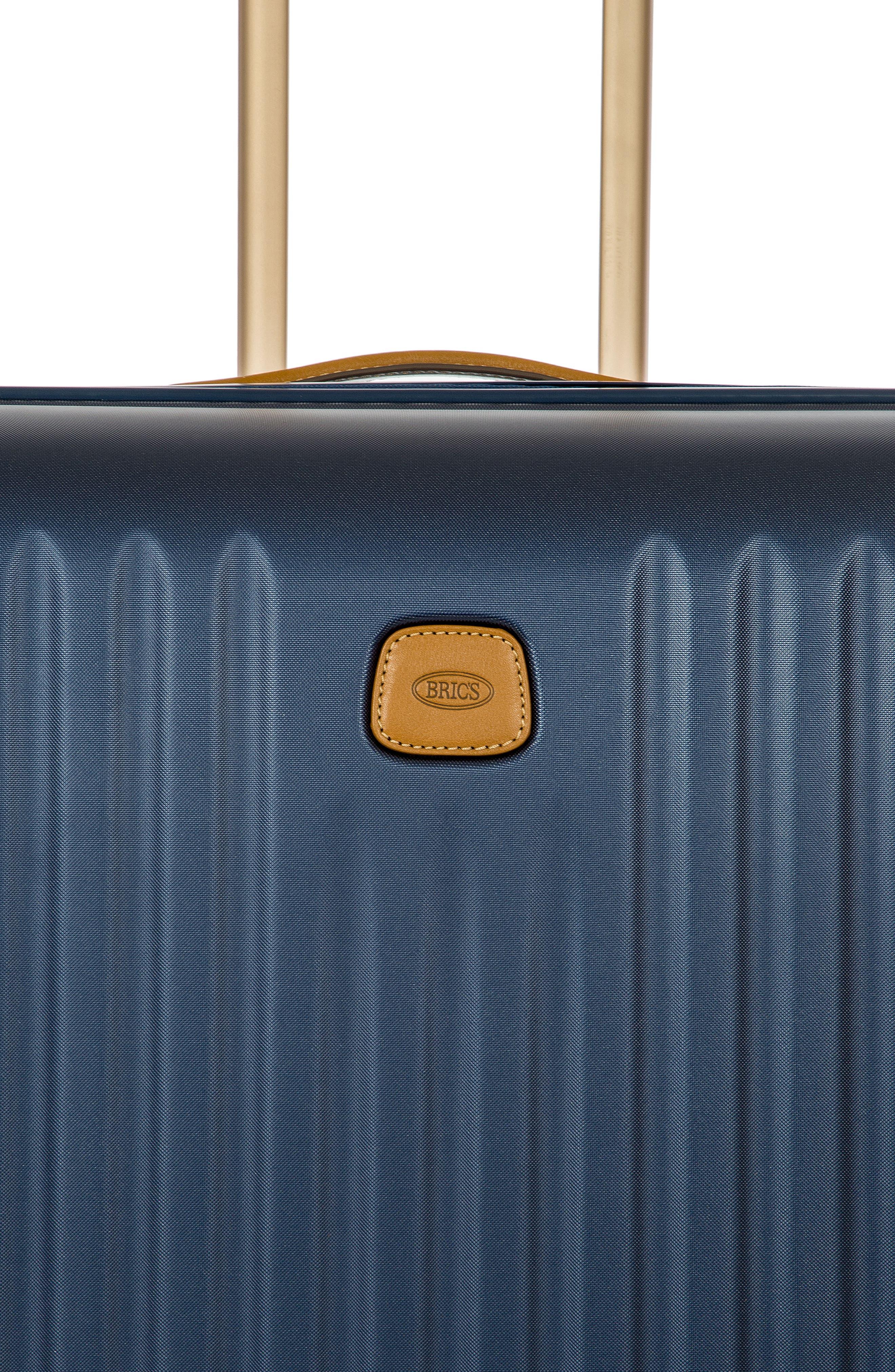 Capri 30-Inch Rolling Suitcase,                             Alternate thumbnail 8, color,                             MATTE BLUE
