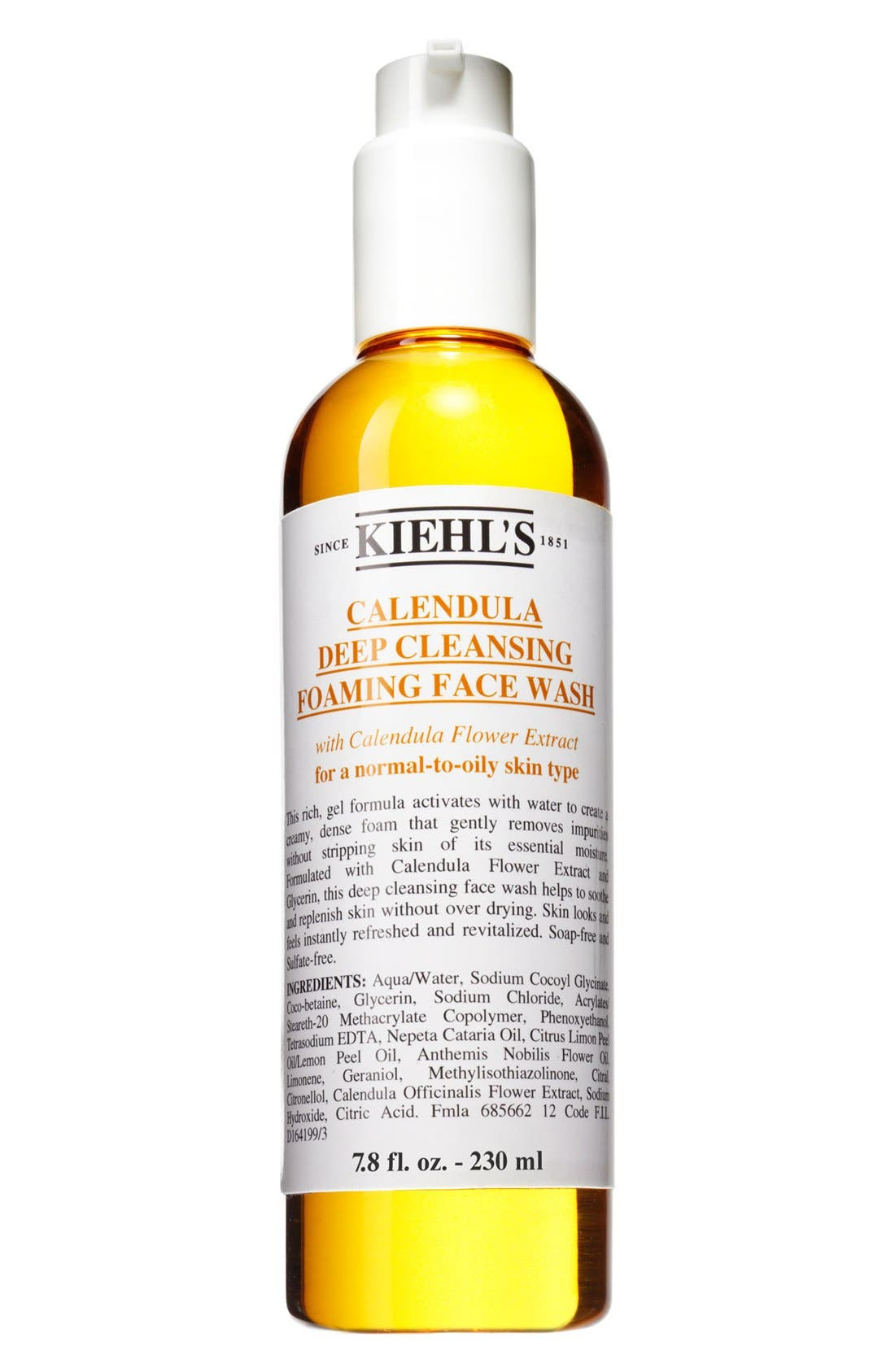 Calendula Deep Cleansing Foaming Face Wash for Normal-to-Oily Skin,                             Alternate thumbnail 6, color,                             NO COLOR