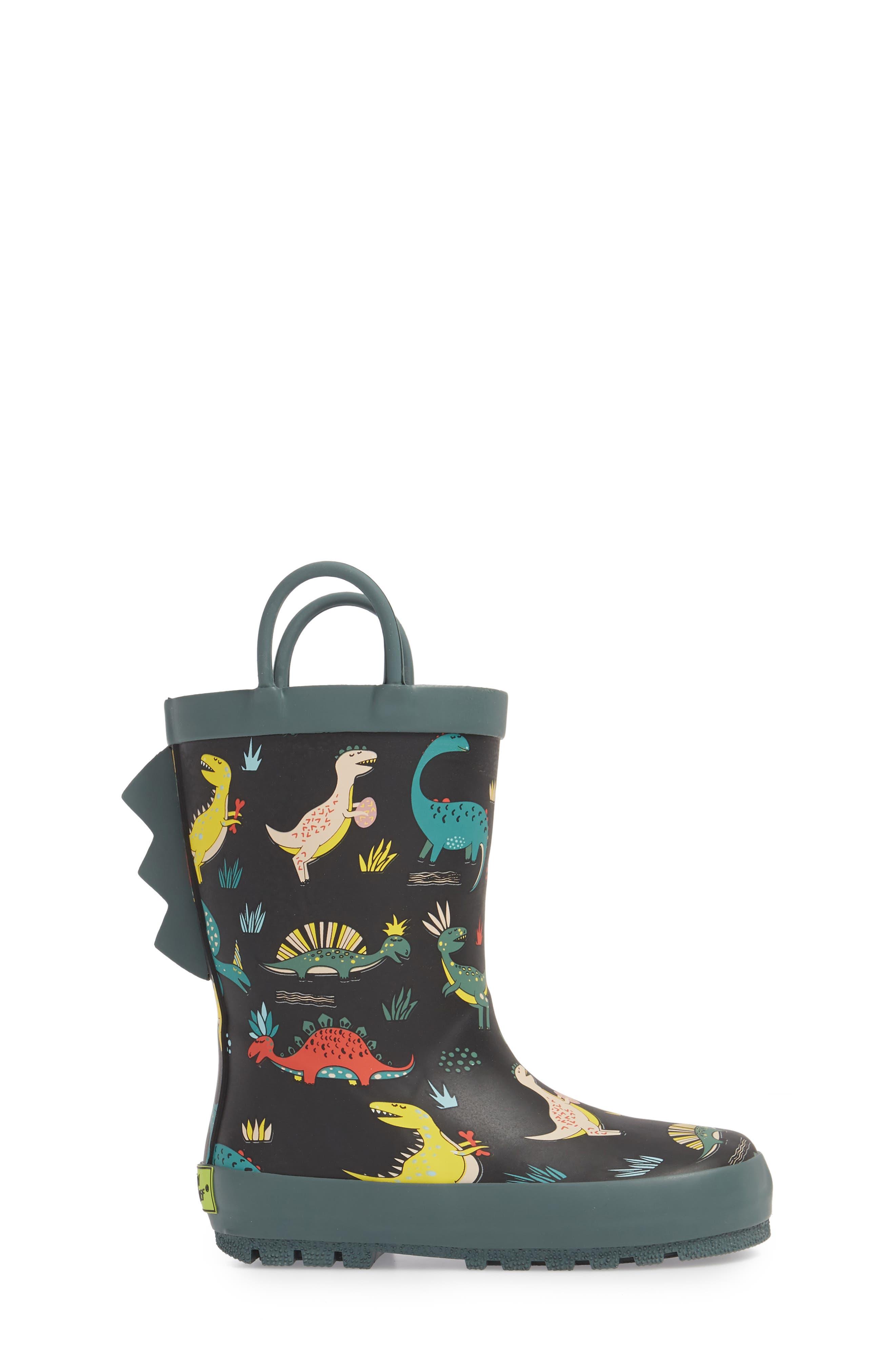 Jurassic Jumble Rain Boot,                             Alternate thumbnail 3, color,                             001