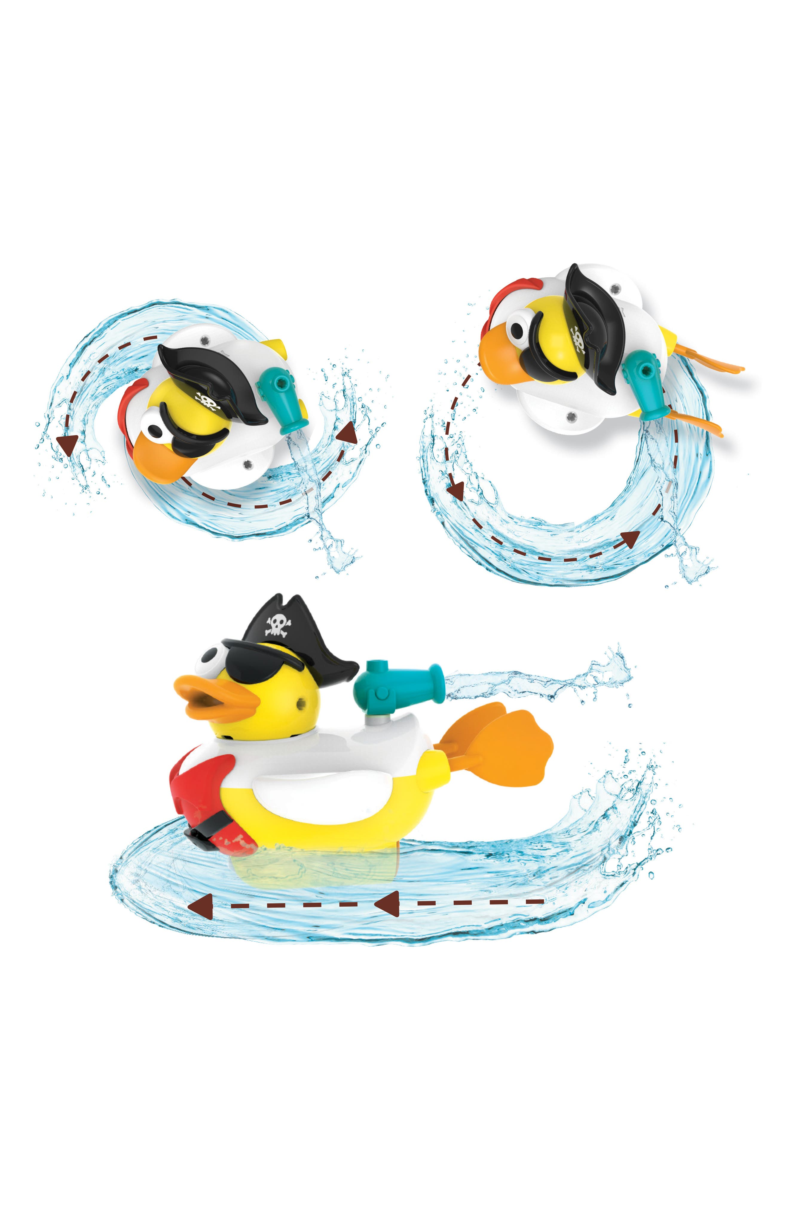 Jet Duck<sup>™</sup> Create a Pirate Bath Toy Kit,                             Alternate thumbnail 8, color,                             YELLOW