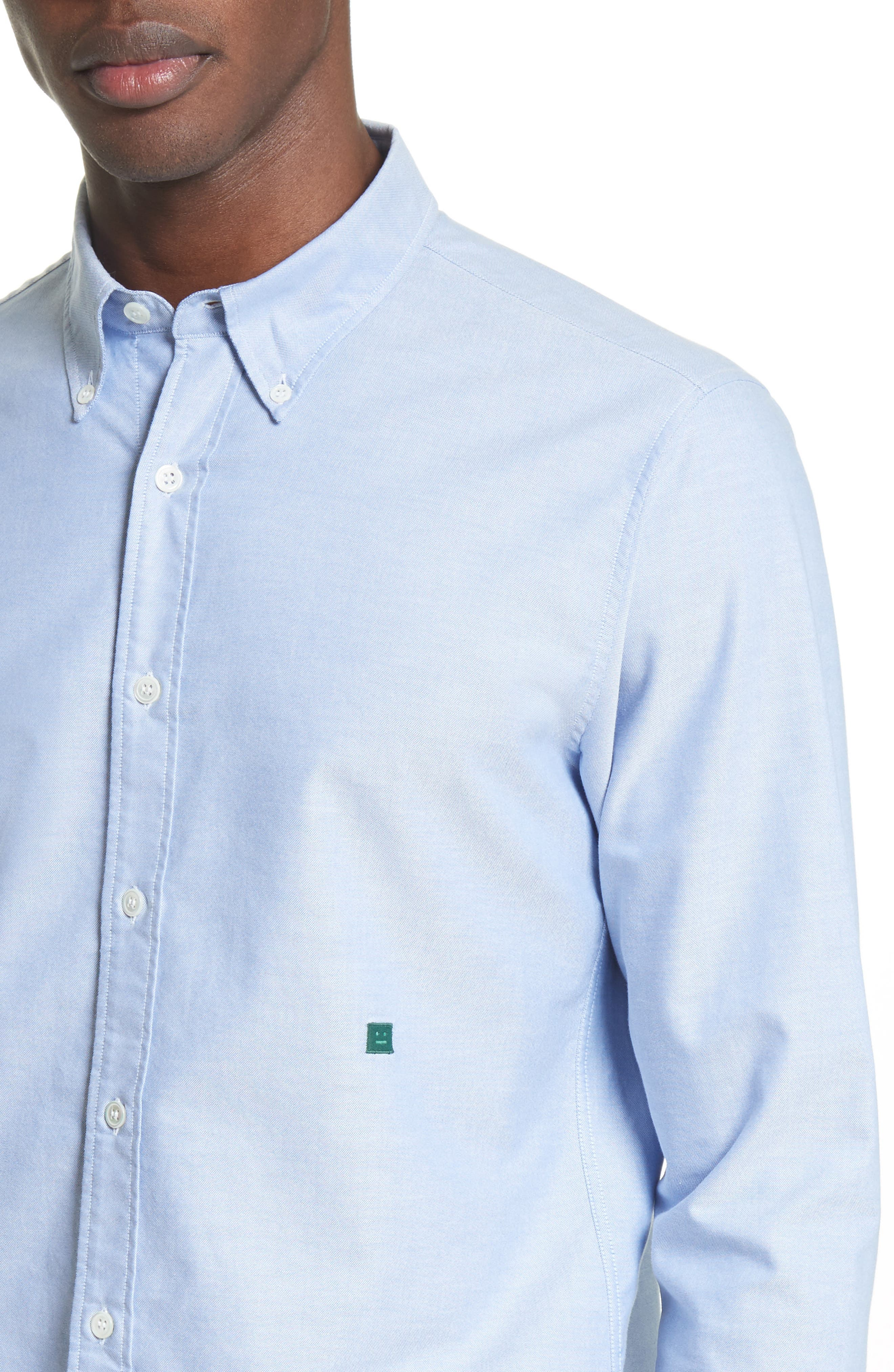 Ohio Face Patch Oxford Shirt,                             Alternate thumbnail 10, color,