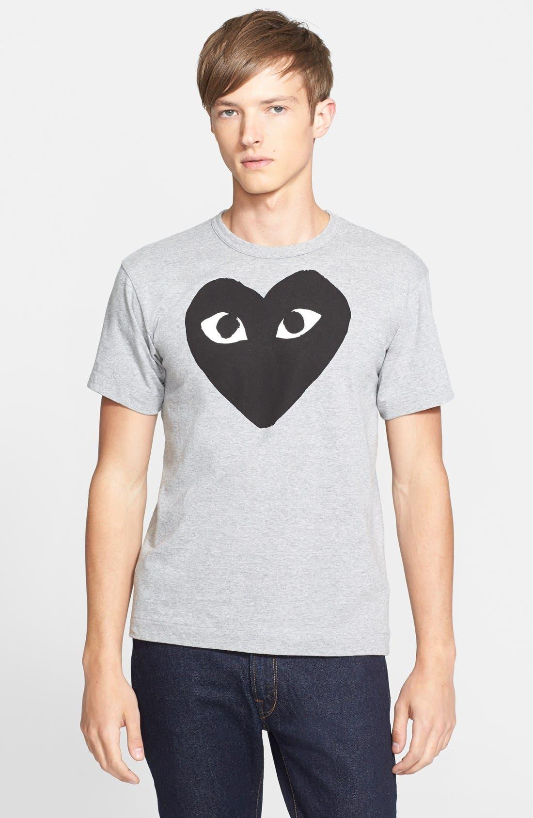 Logo Graphic Crewneck T-Shirt,                             Main thumbnail 1, color,                             TOP DYED GRAY