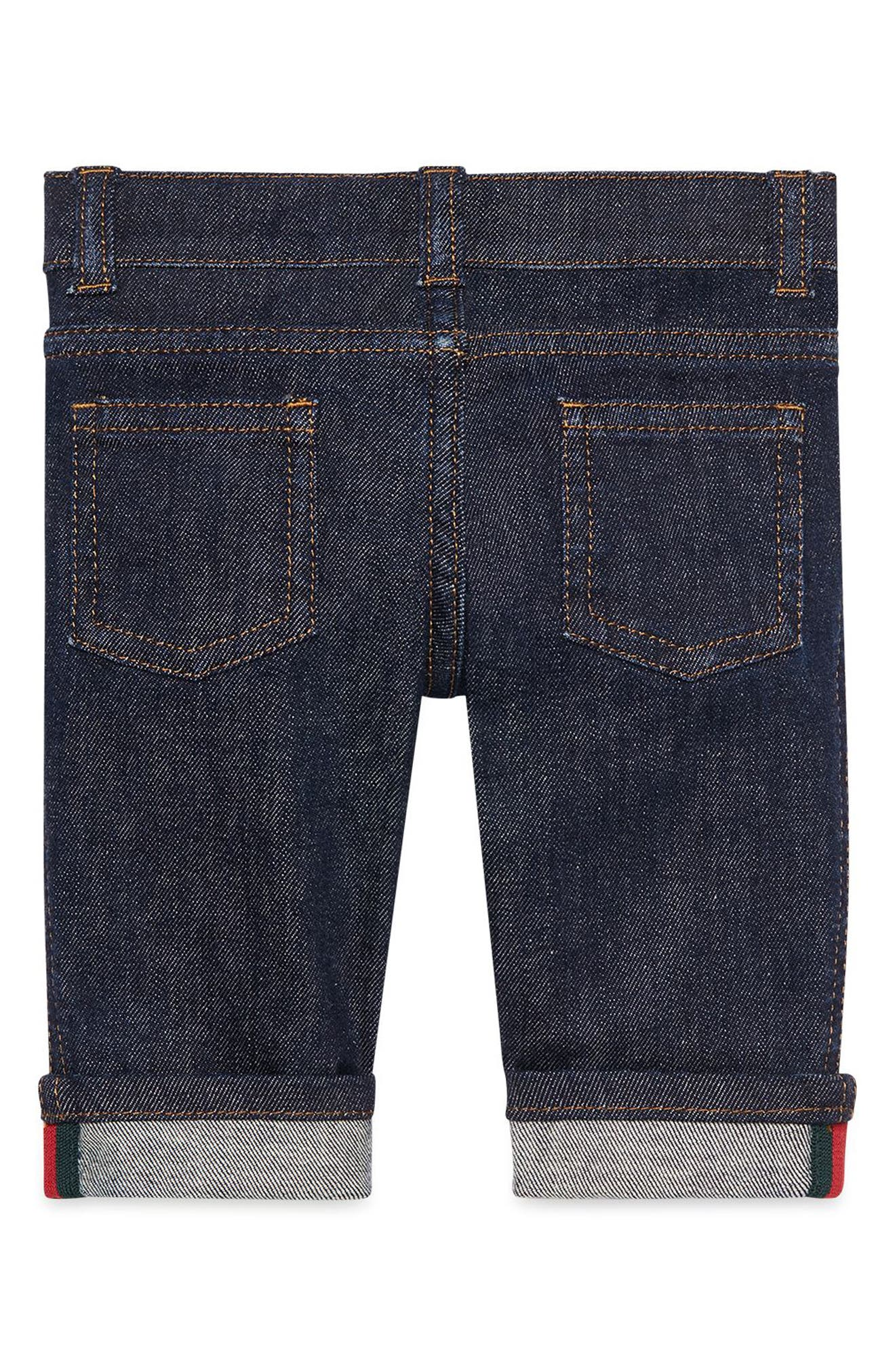 Straight Leg Jeans,                             Alternate thumbnail 2, color,                             INDIGO