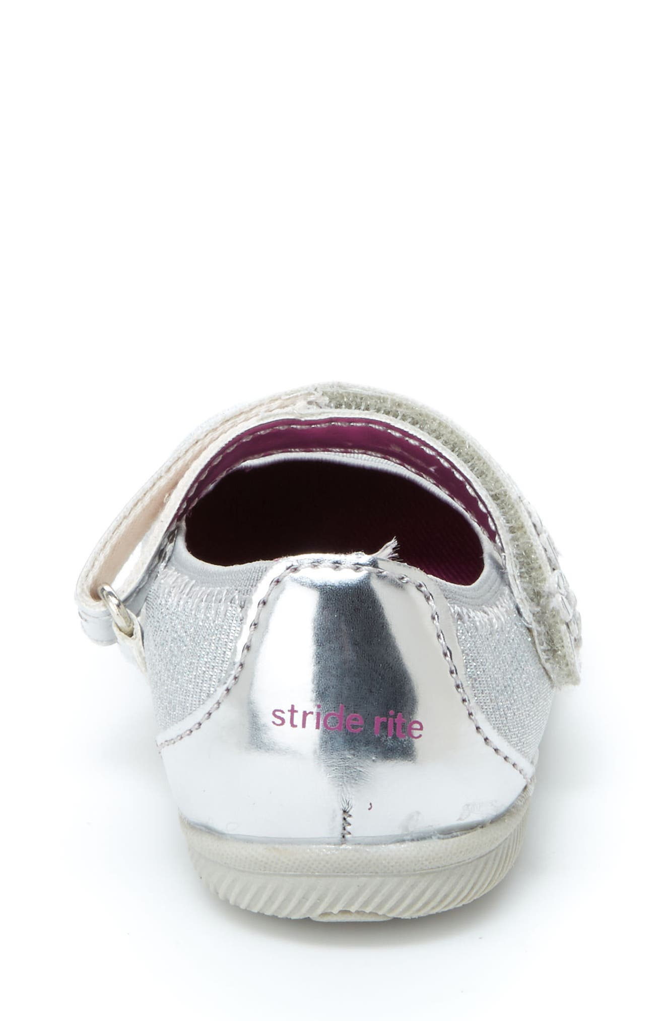 Lil Layla Mary Jane Flat,                             Alternate thumbnail 6, color,                             SILVER