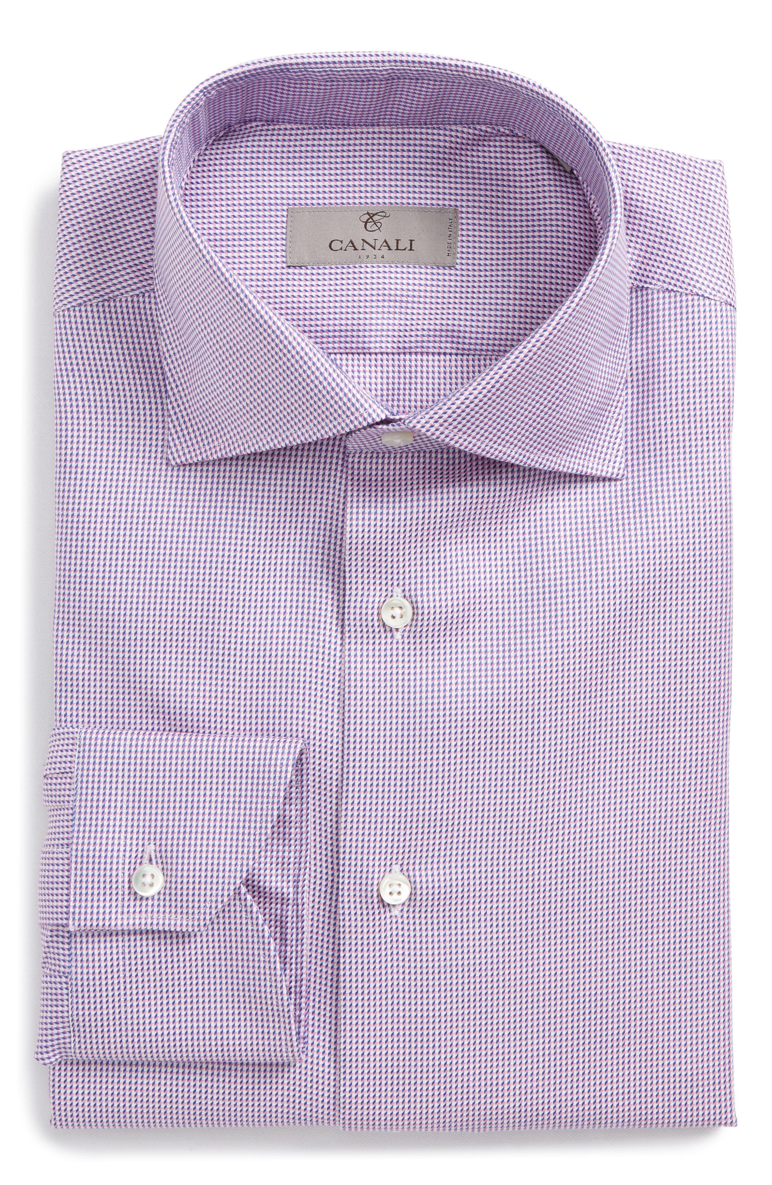 Regular Fit Houndstooth Dress Shirt,                         Main,                         color, 650