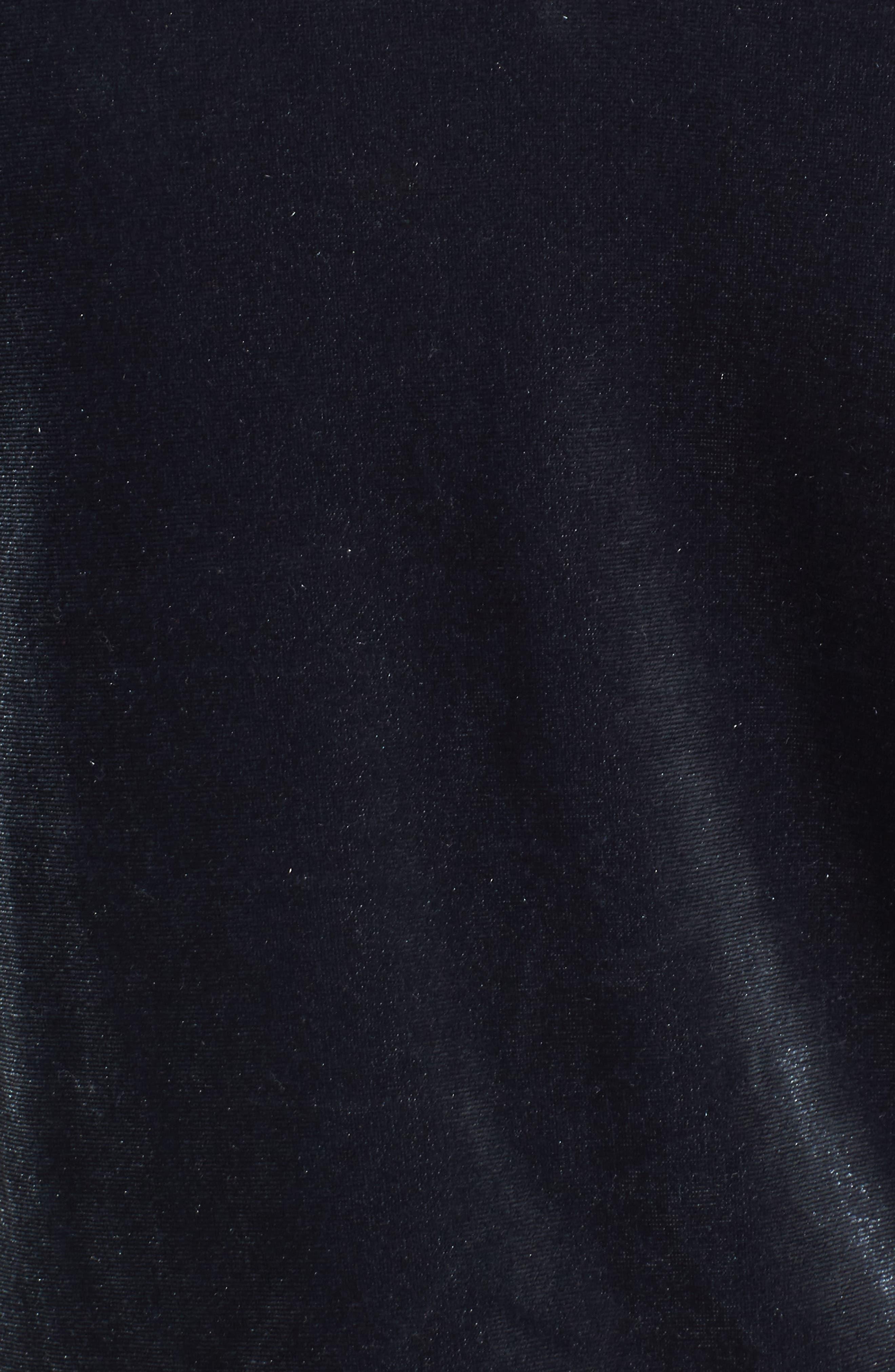 Exhibition Ruffle Cold Shoulder Velvet Top,                             Alternate thumbnail 5, color,                             020