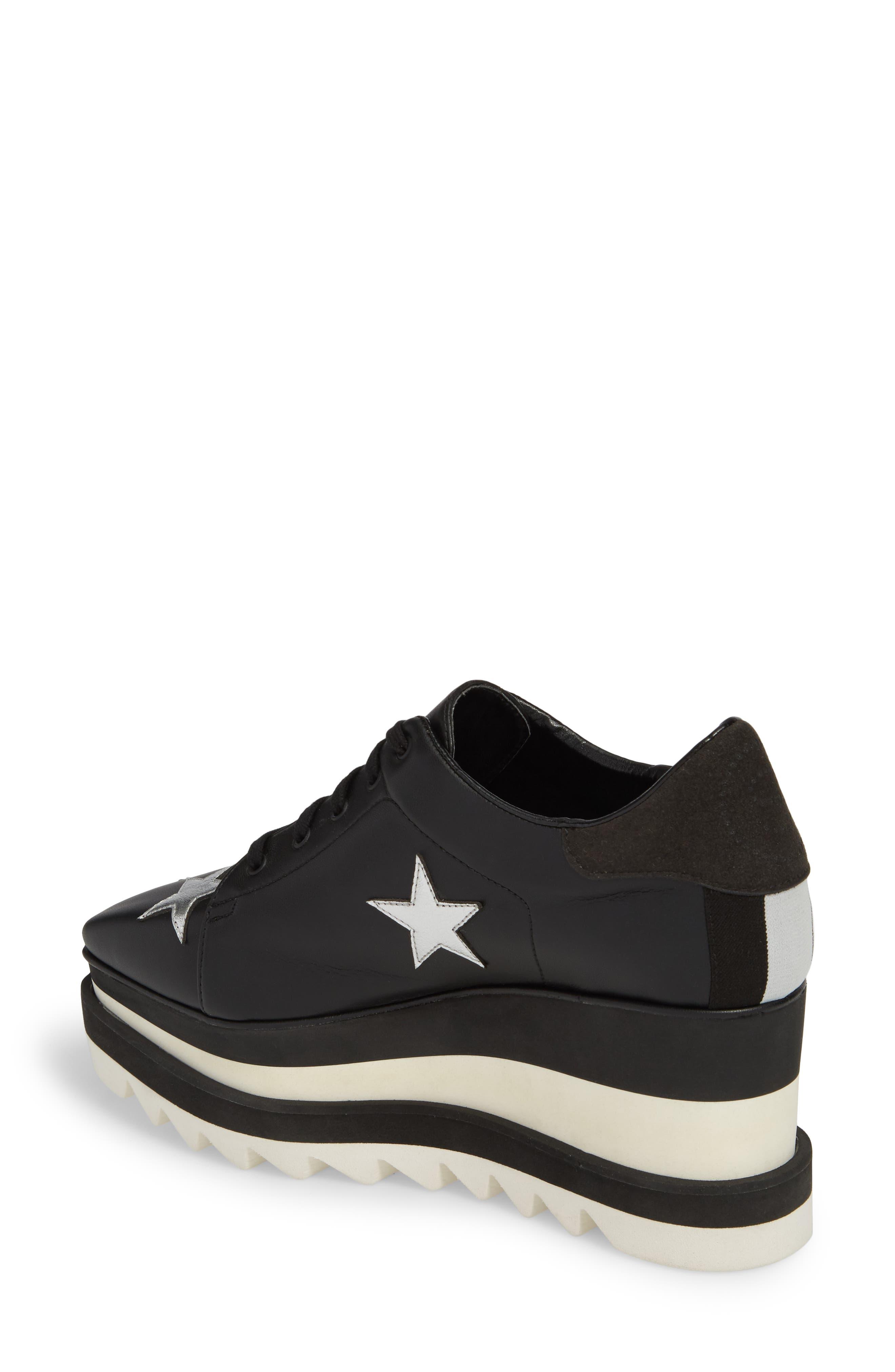 Elyse Platform Sneaker,                             Alternate thumbnail 2, color,                             BLACK