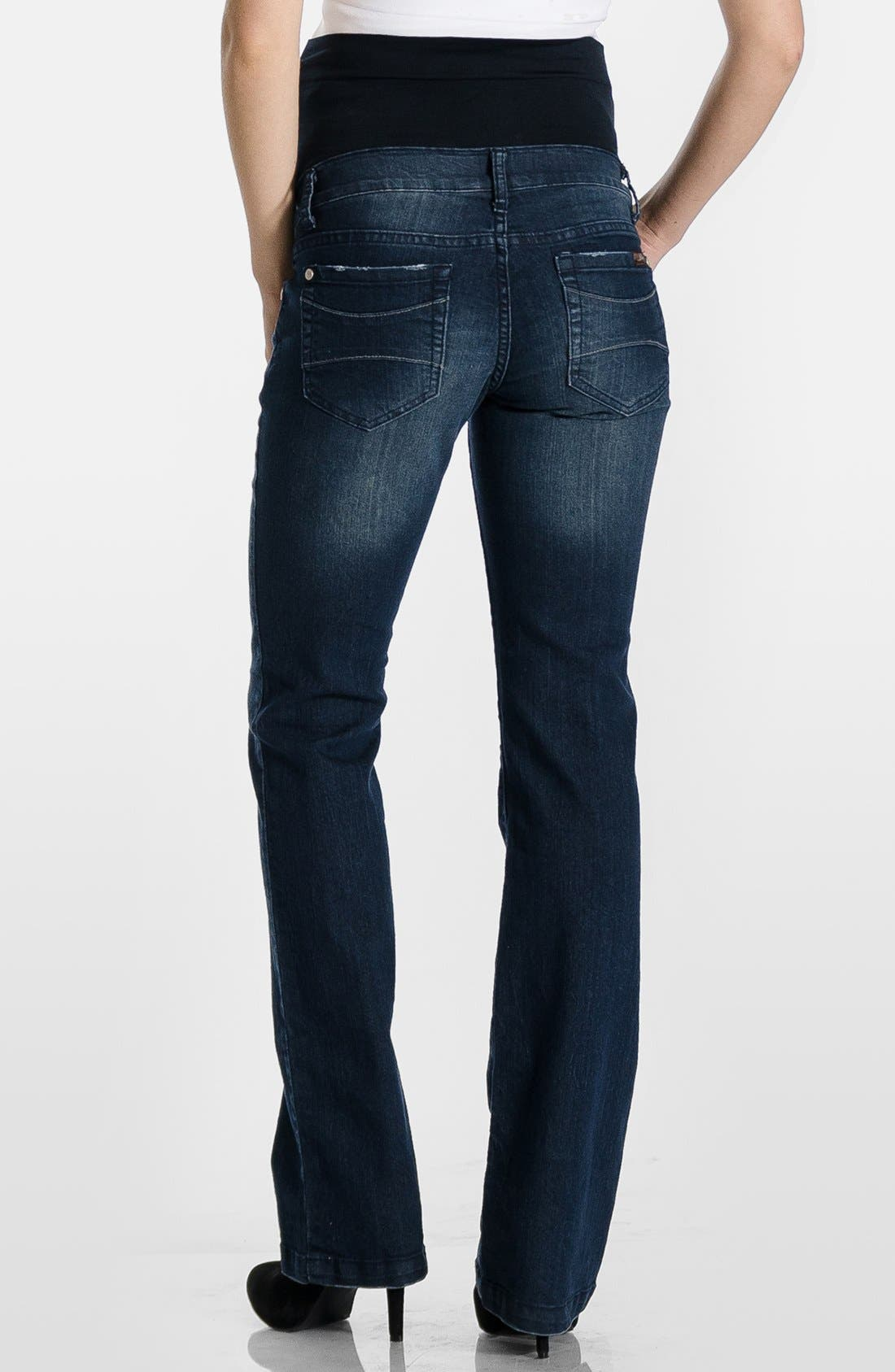 'Signature' Bootcut Maternity Stretch Jeans,                             Alternate thumbnail 5, color,                             400