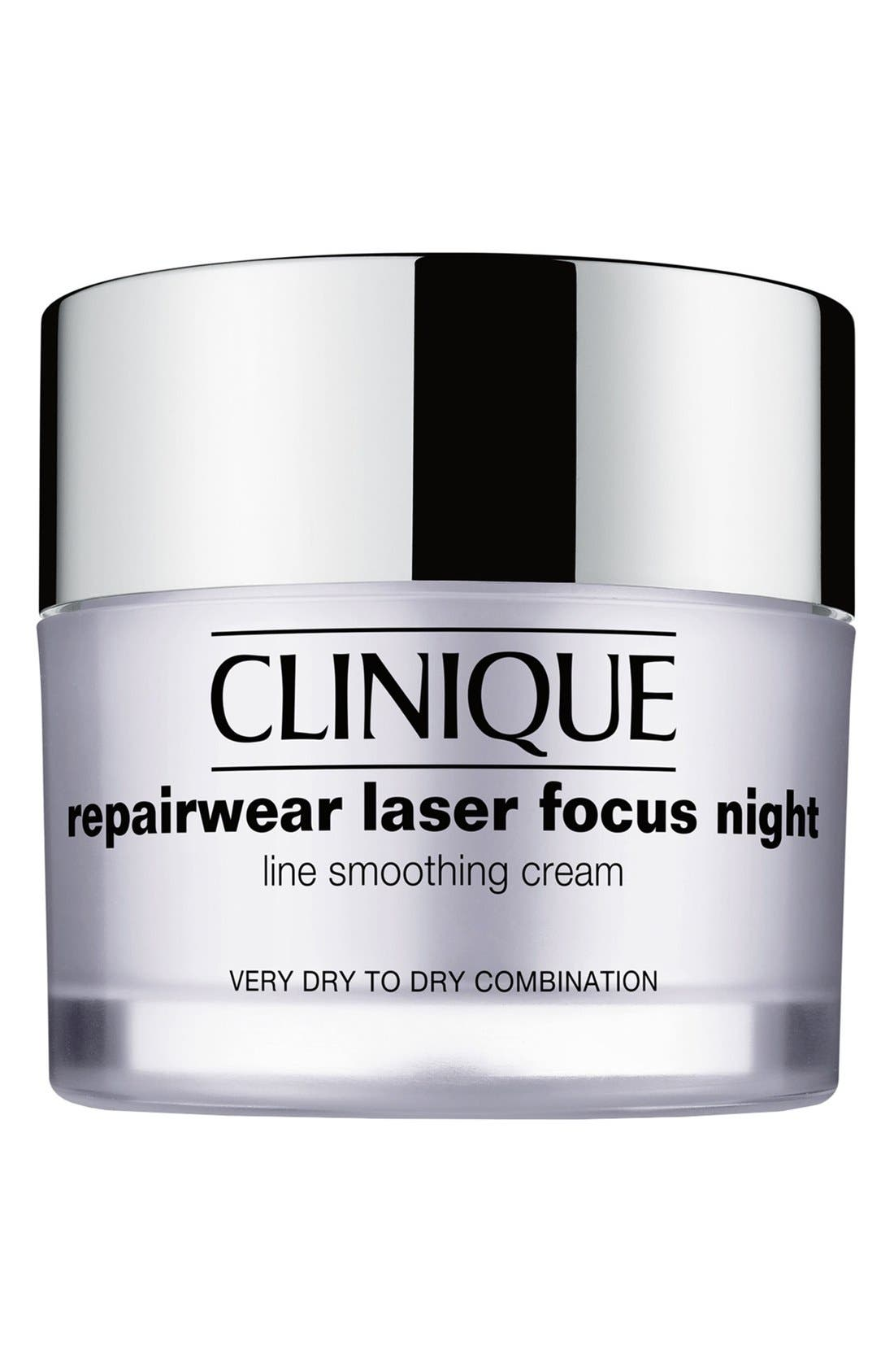 Repairwear Laser Focus Night Line Smoothing Cream,                             Main thumbnail 1, color,                             VERY DRY TO DRY COMBINATION