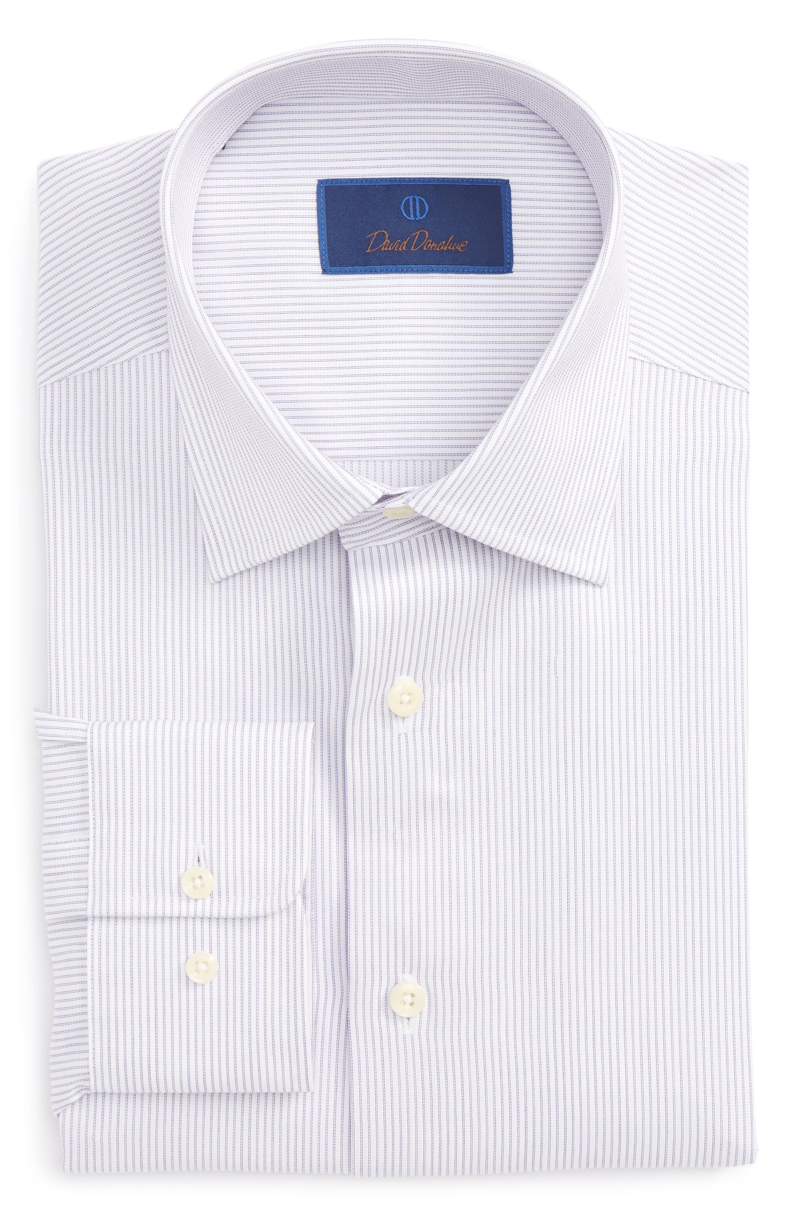 Regular Fit Stripe Dress Shirt,                             Main thumbnail 2, color,