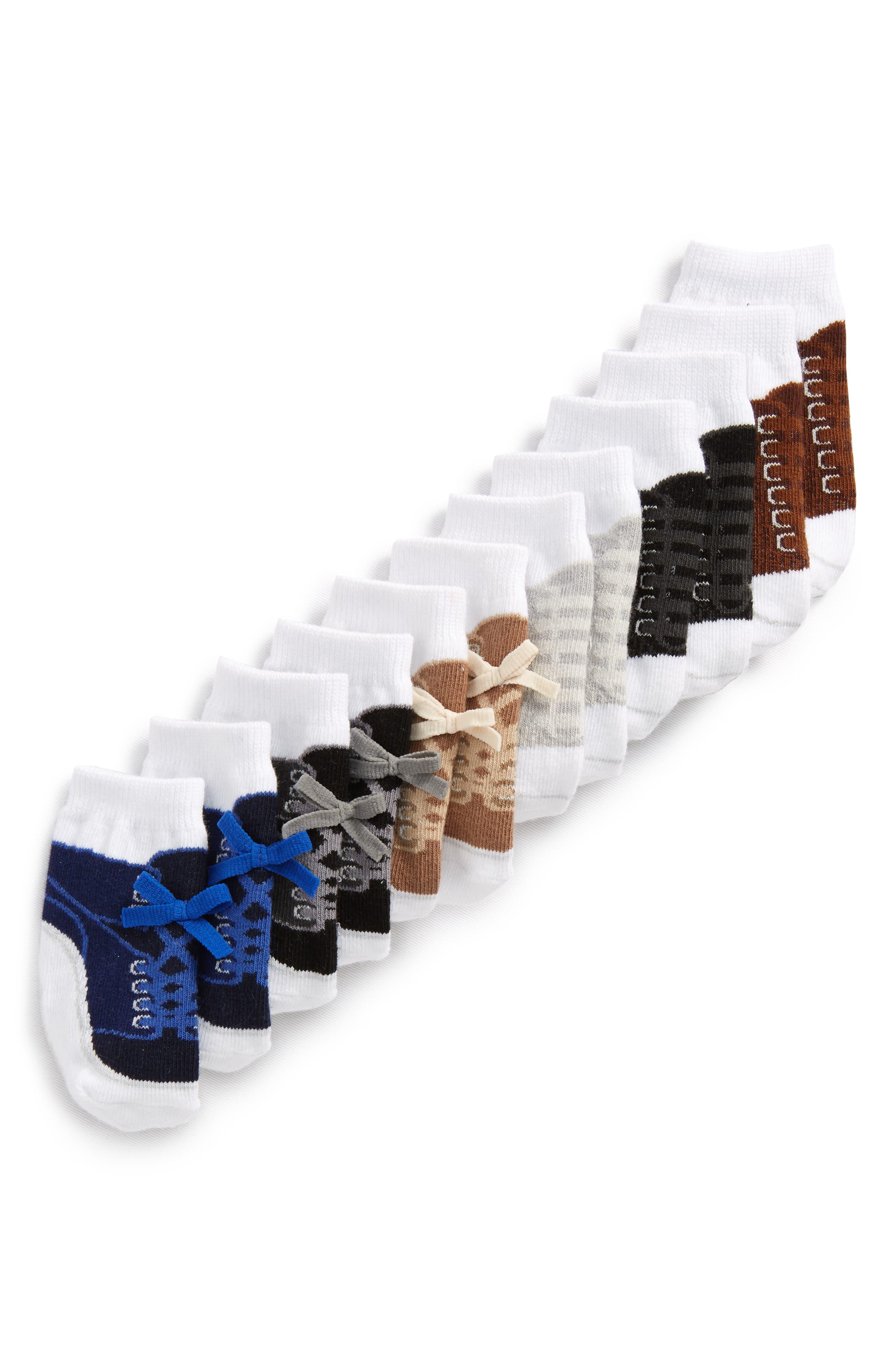 Brayden 6-Pack Socks,                             Alternate thumbnail 2, color,