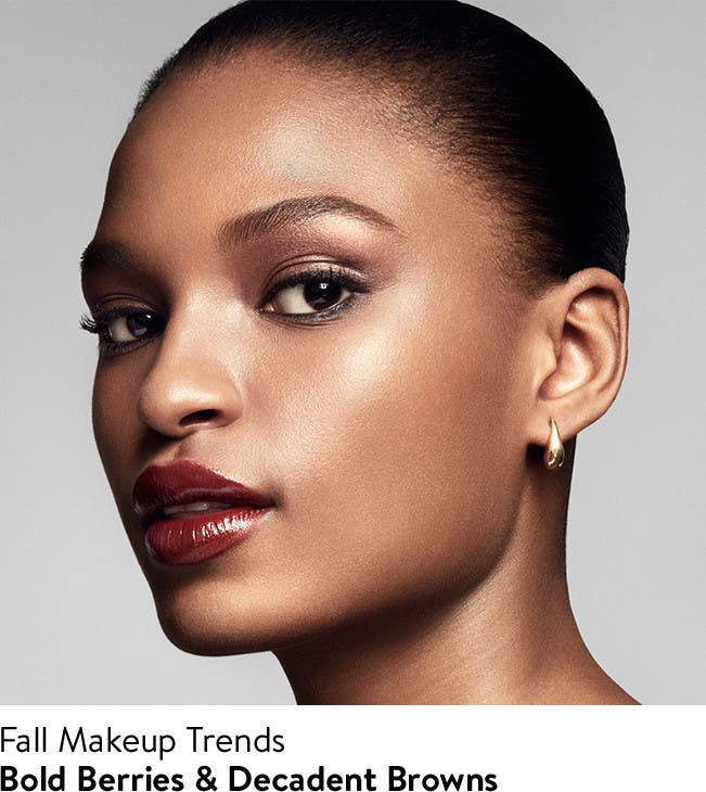 Fall makeup trends, bold berries and decadent browns.