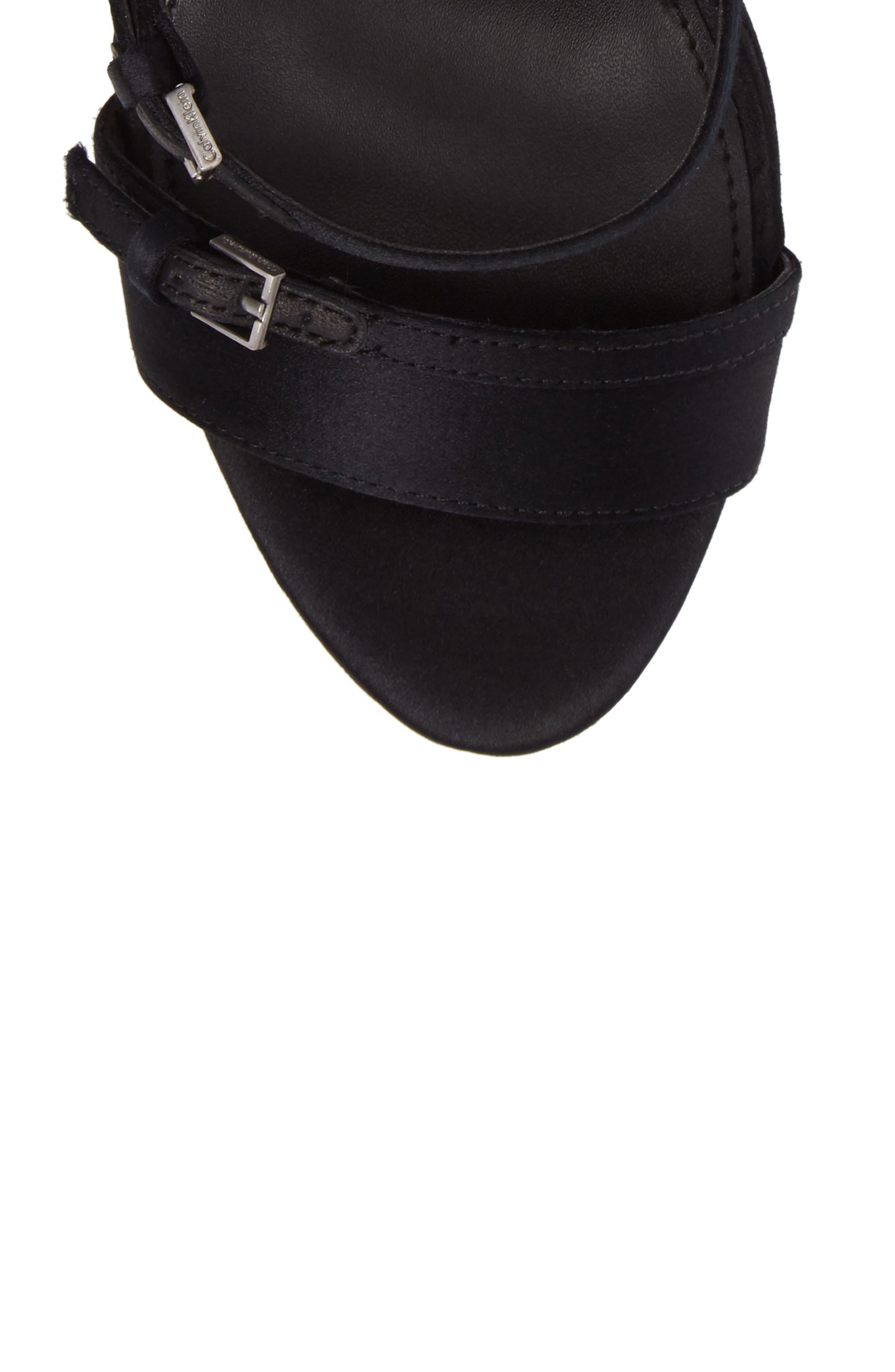 Shantell Strappy Platform Sandal,                             Alternate thumbnail 5, color,                             001