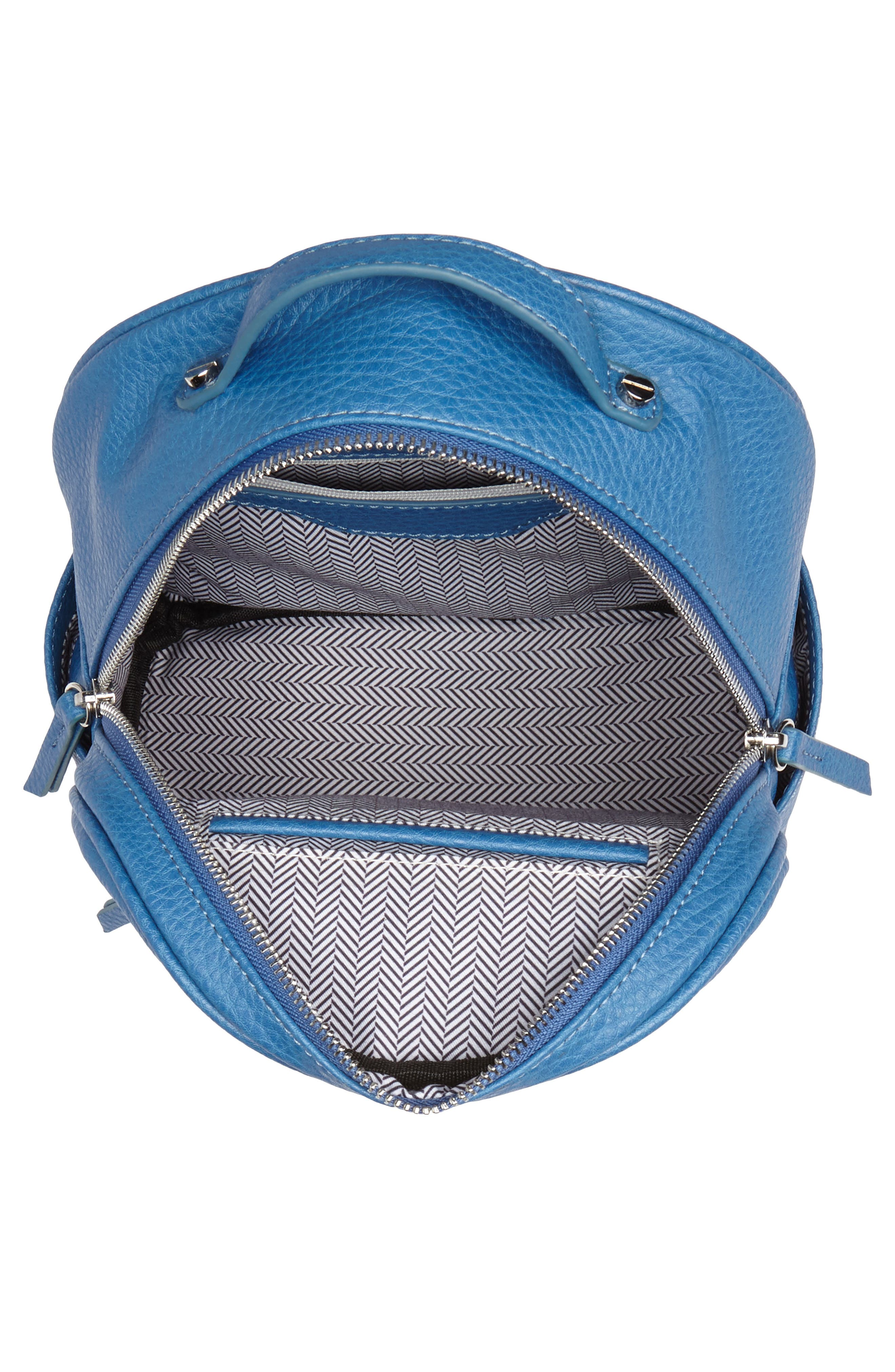 Mali + Lili Hannah Vegan Leather Backpack,                             Alternate thumbnail 4, color,                             FRENCH BLUE