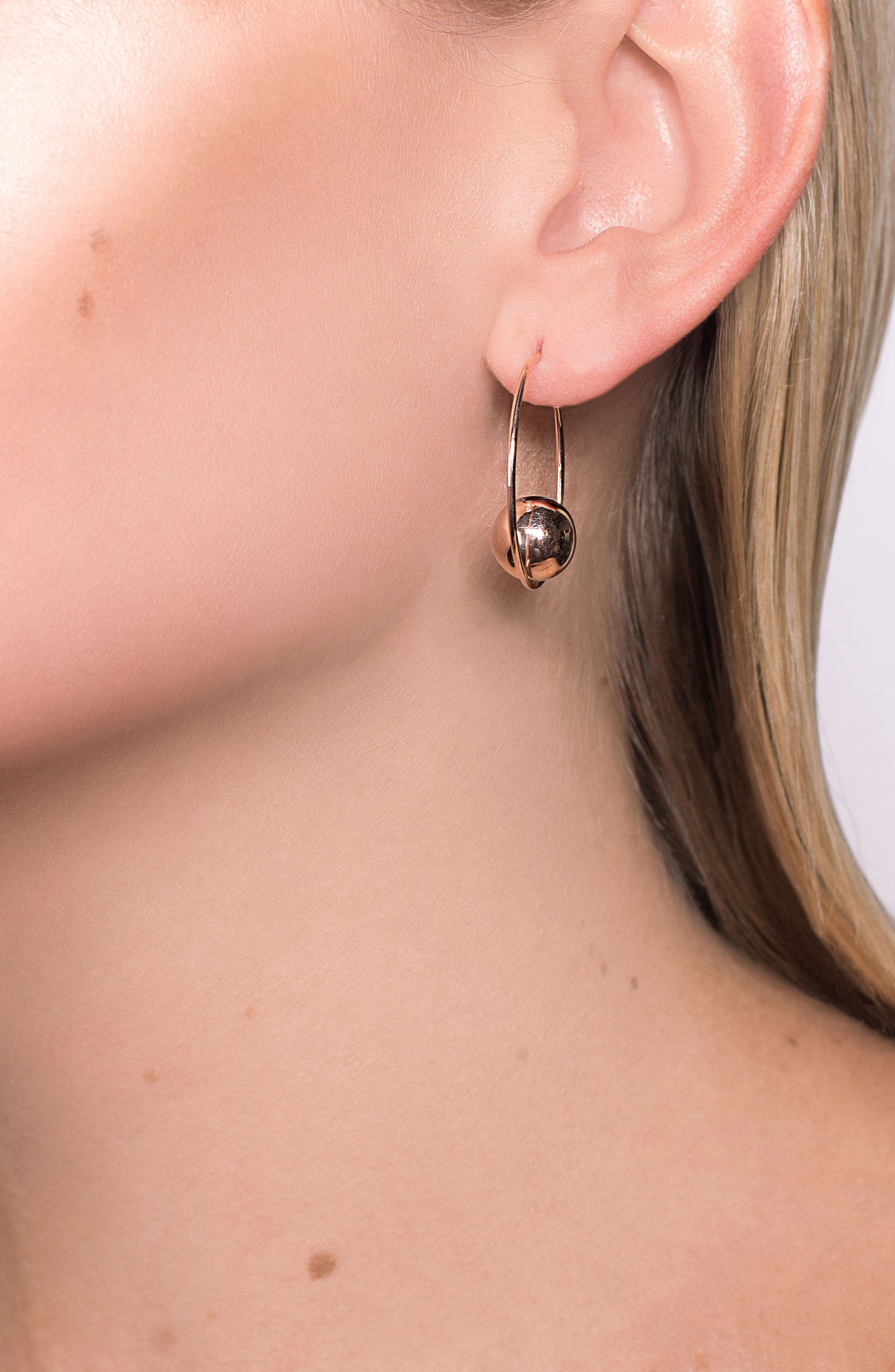 LANA JEWELRY,                             Hollow Ball Large Hoop Earrings,                             Alternate thumbnail 2, color,                             GOLD