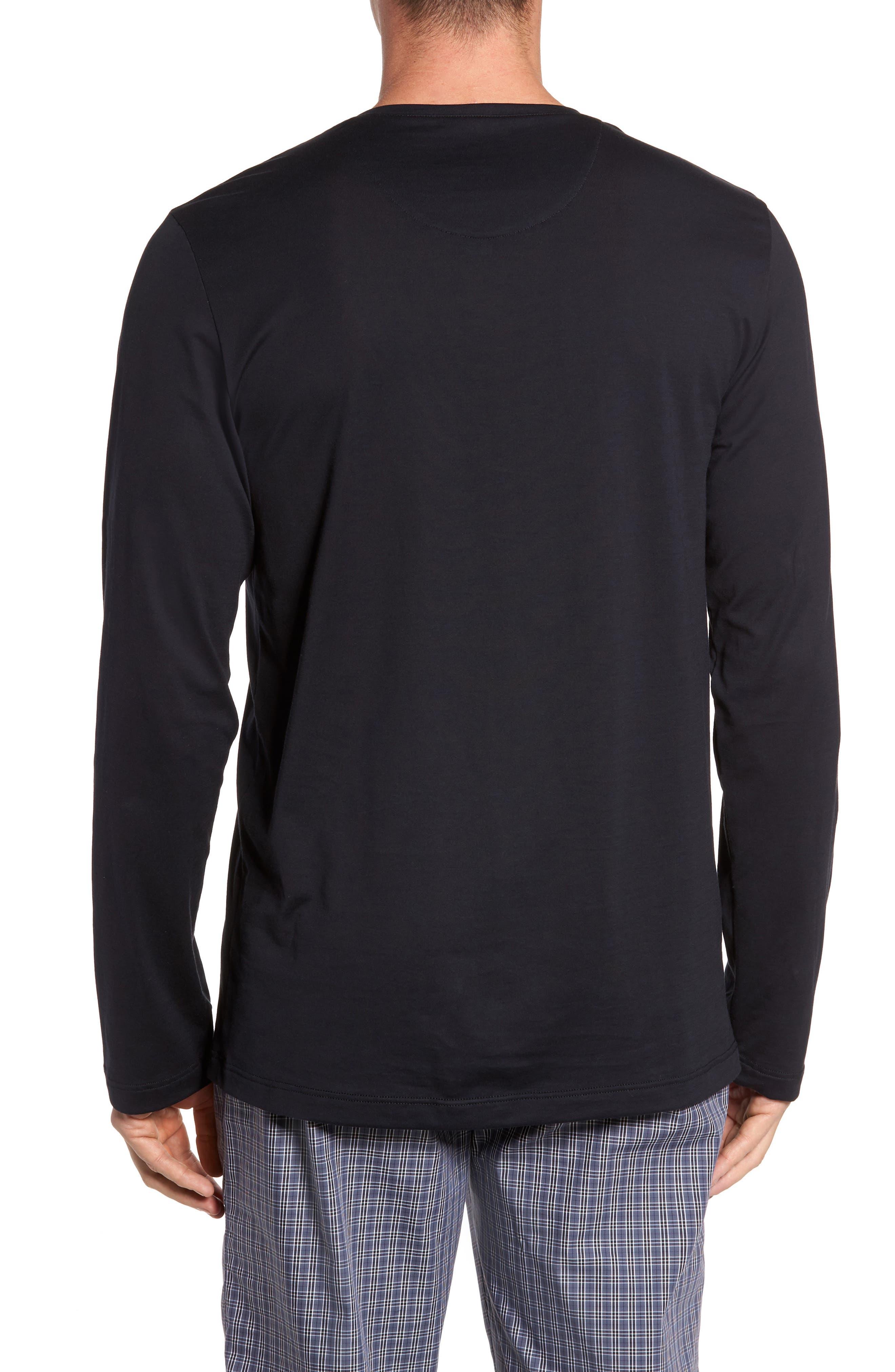 Night & Day Lounge T-Shirt,                             Alternate thumbnail 2, color,                             BLACK