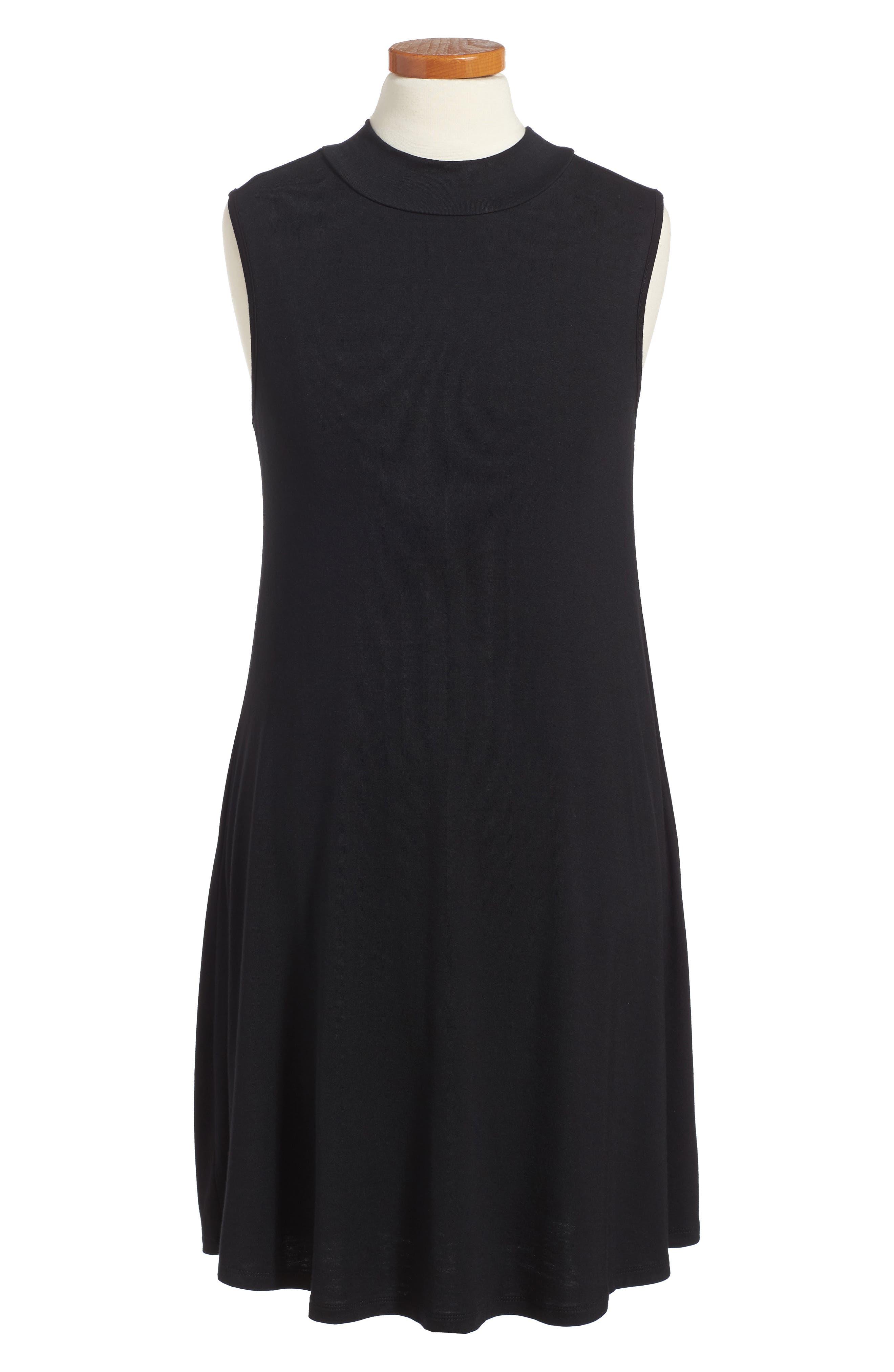 Phyllis Stripe Mock Neck Dress,                         Main,                         color,