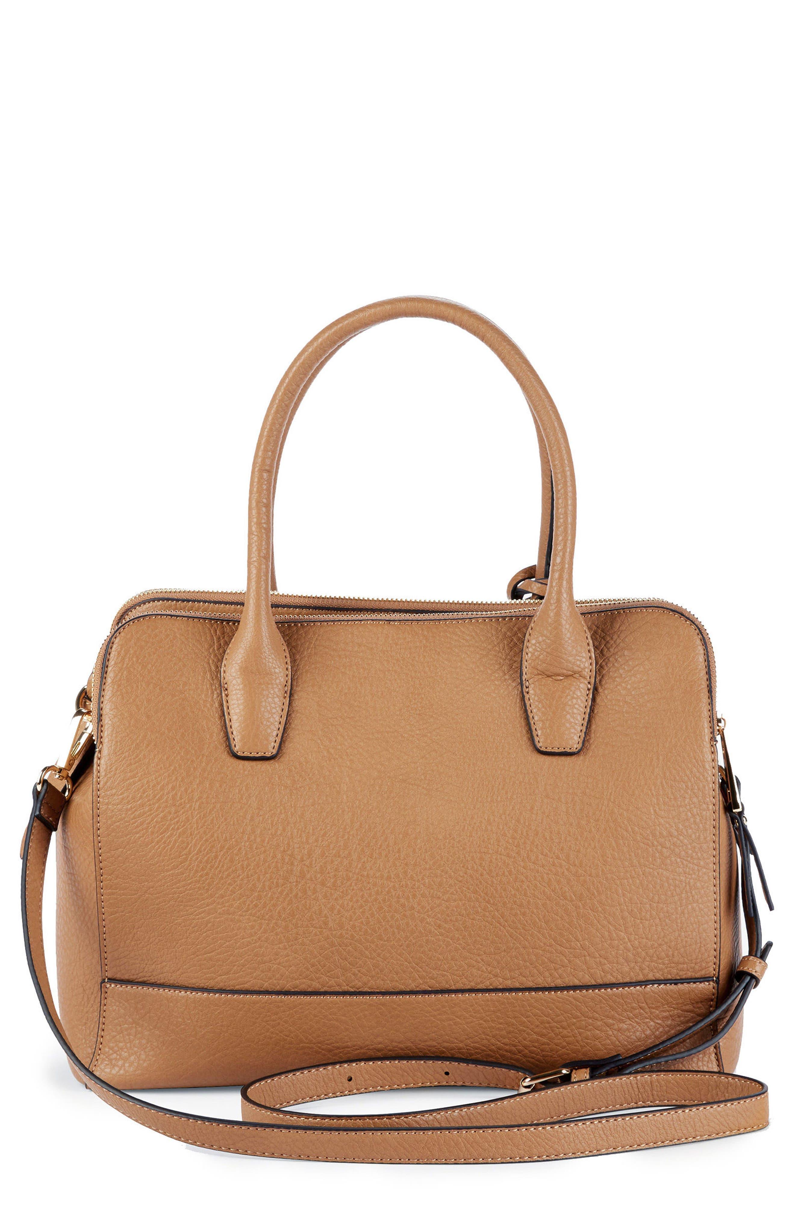 Nera Faux Leather Satchel,                         Main,                         color, 230