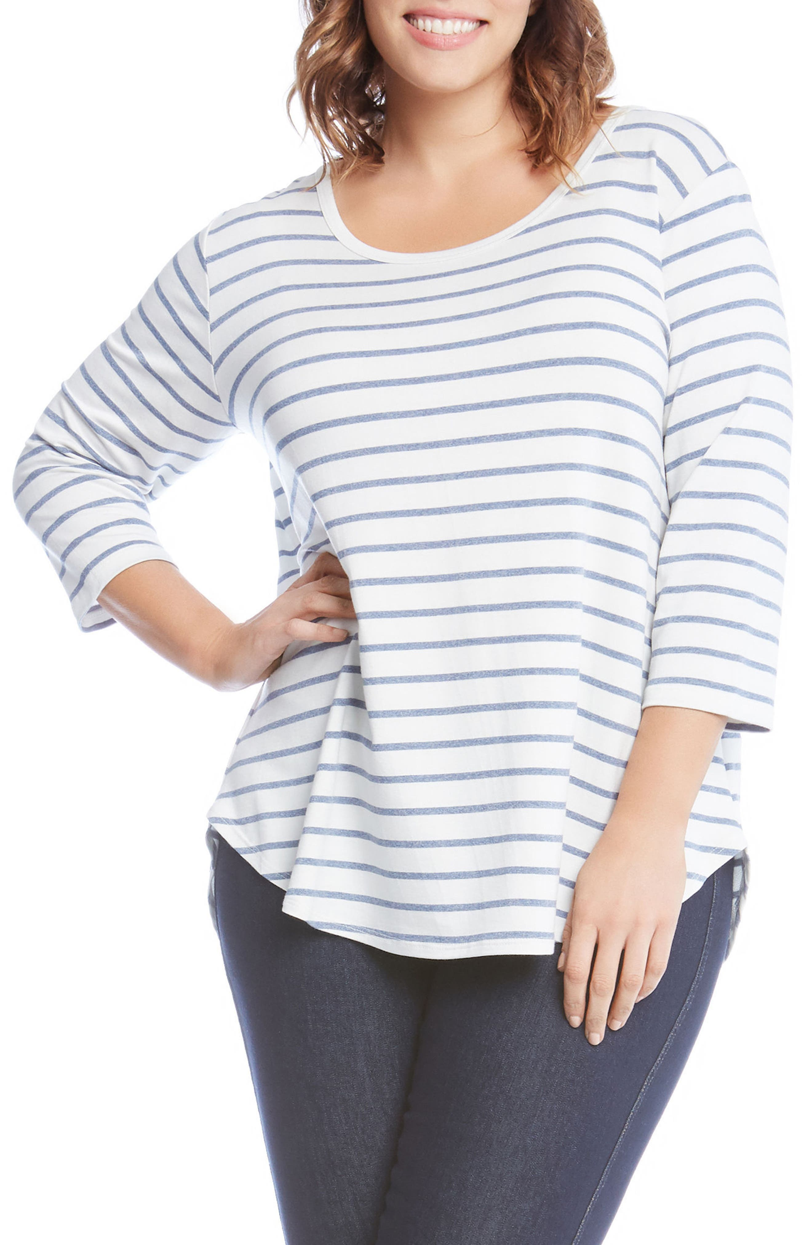 Shirttail Stripe Top,                         Main,                         color, 189