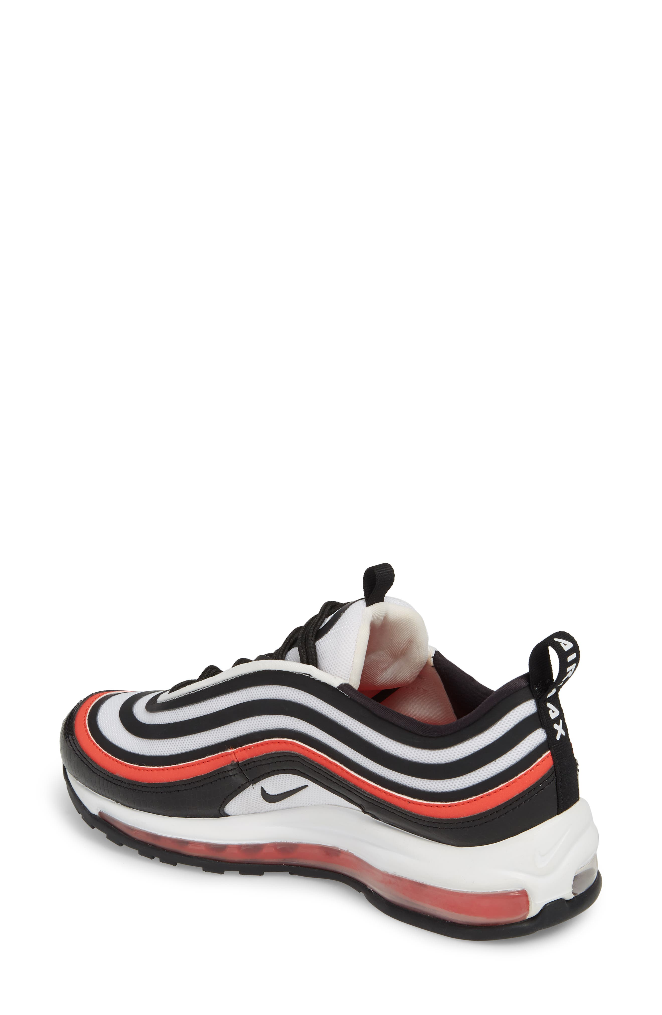 Air Max 97 Ultra '17 SE Sneaker,                             Alternate thumbnail 2, color,                             BLACK/ BLACK/ WHITE/ RED