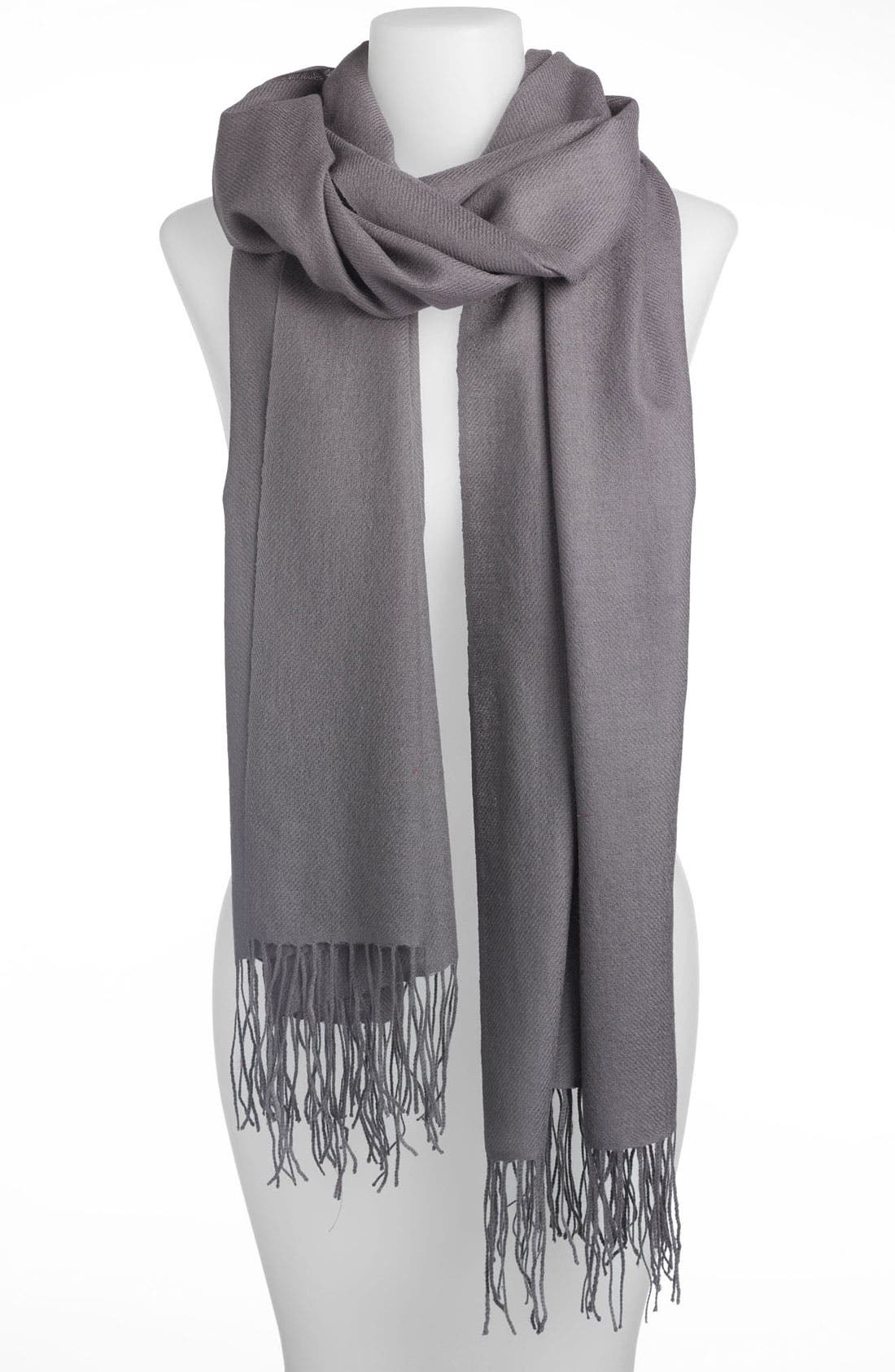 Tissue Weight Wool & Cashmere Wrap,                             Main thumbnail 9, color,