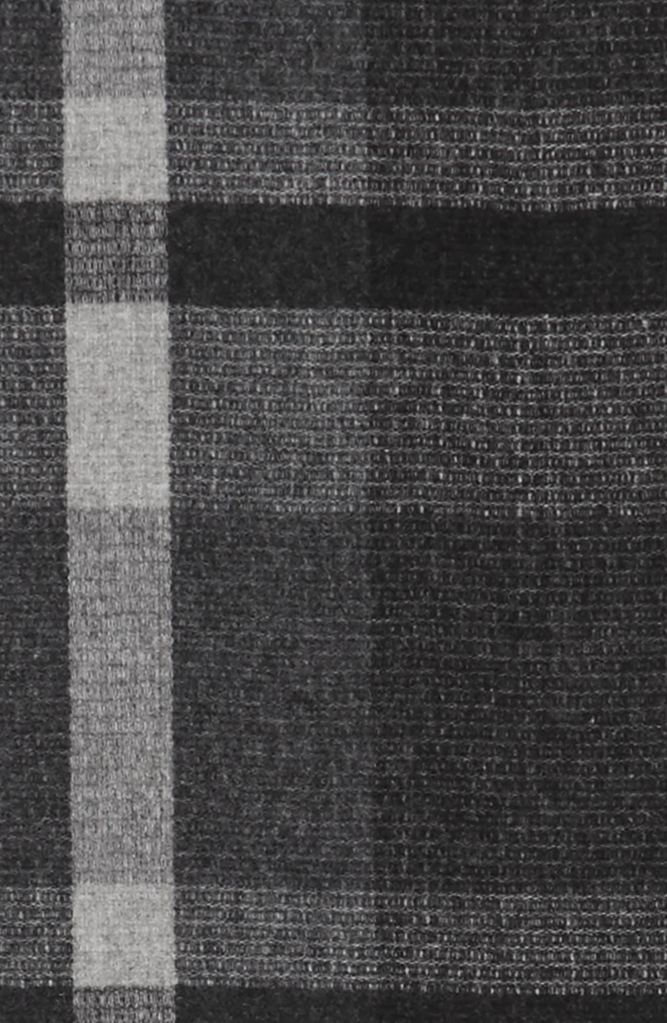 Plaid Wool Scarf,                             Alternate thumbnail 5, color,