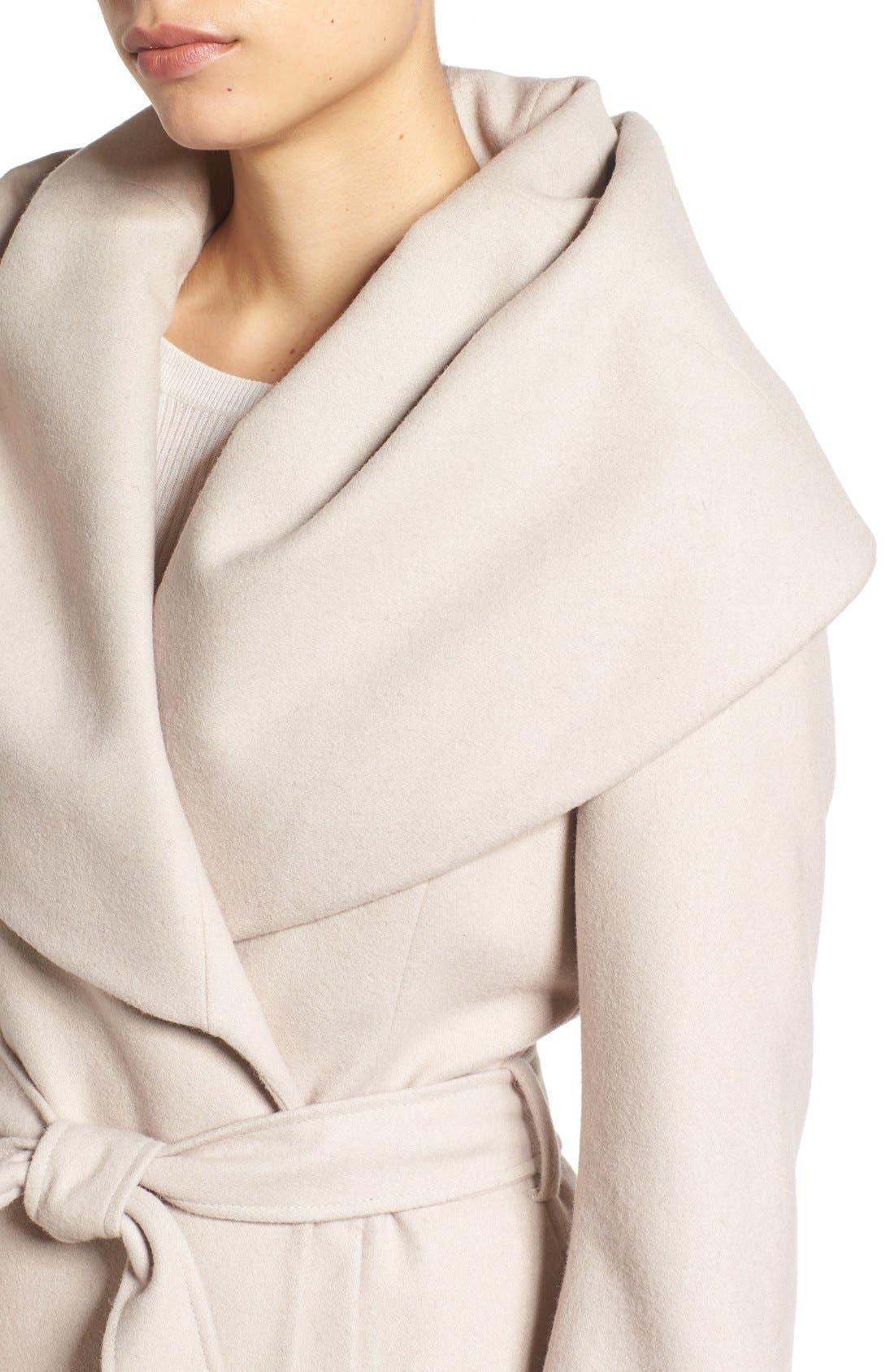 T Tahari Wool Blend Belted Wrap Coat,                             Alternate thumbnail 17, color,