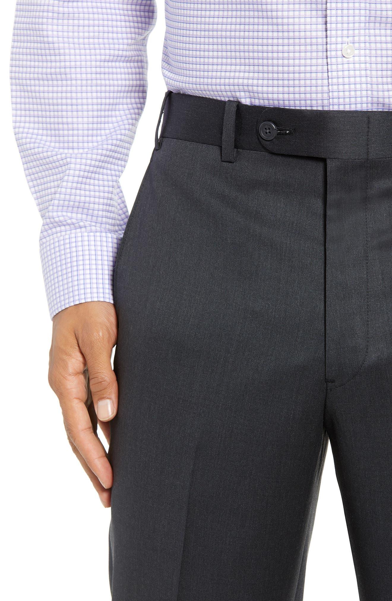 Torino Flat Front Wool Gabardine Trousers,                             Alternate thumbnail 20, color,