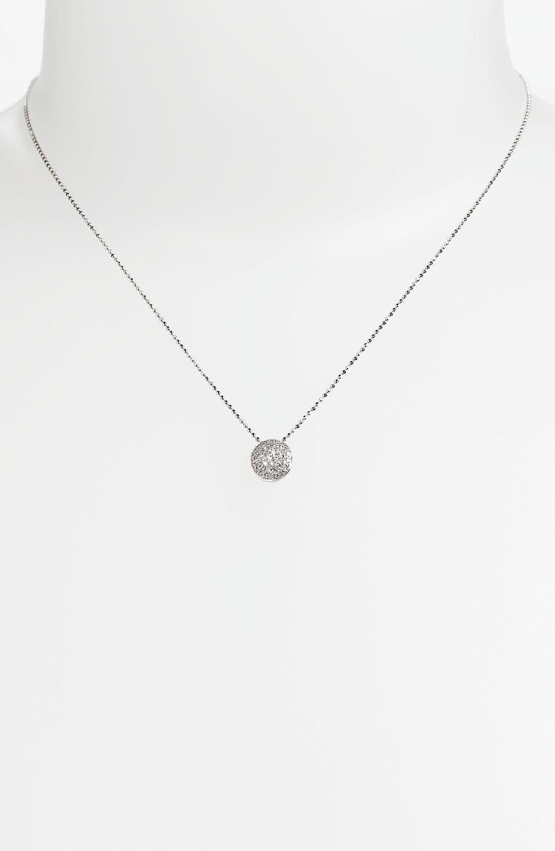 'Eclipse' Pavé Diamond Pendant Necklace,                             Alternate thumbnail 2, color,                             710