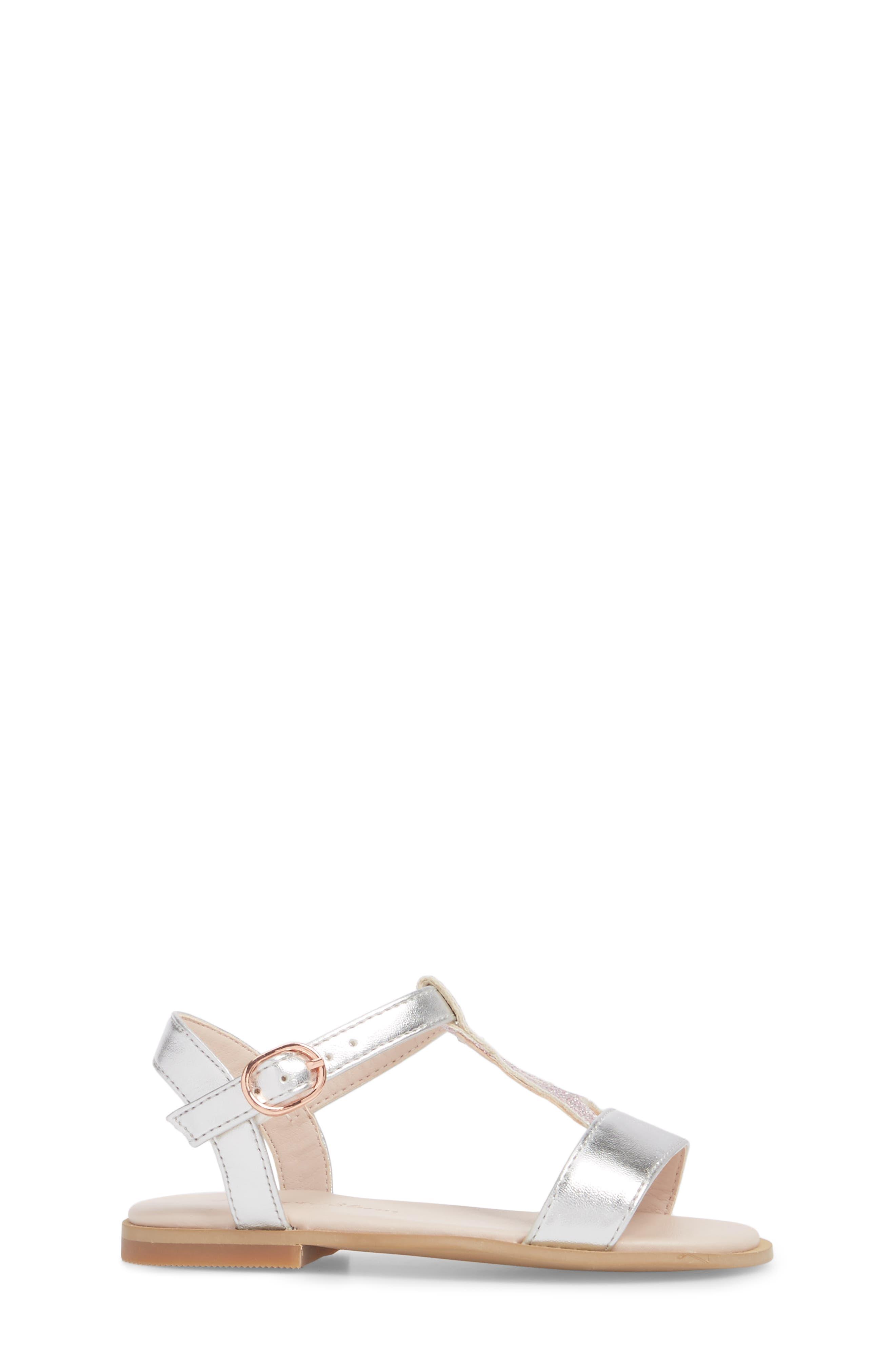 Tegan Glitter T-Strap Sandal,                             Alternate thumbnail 3, color,                             040