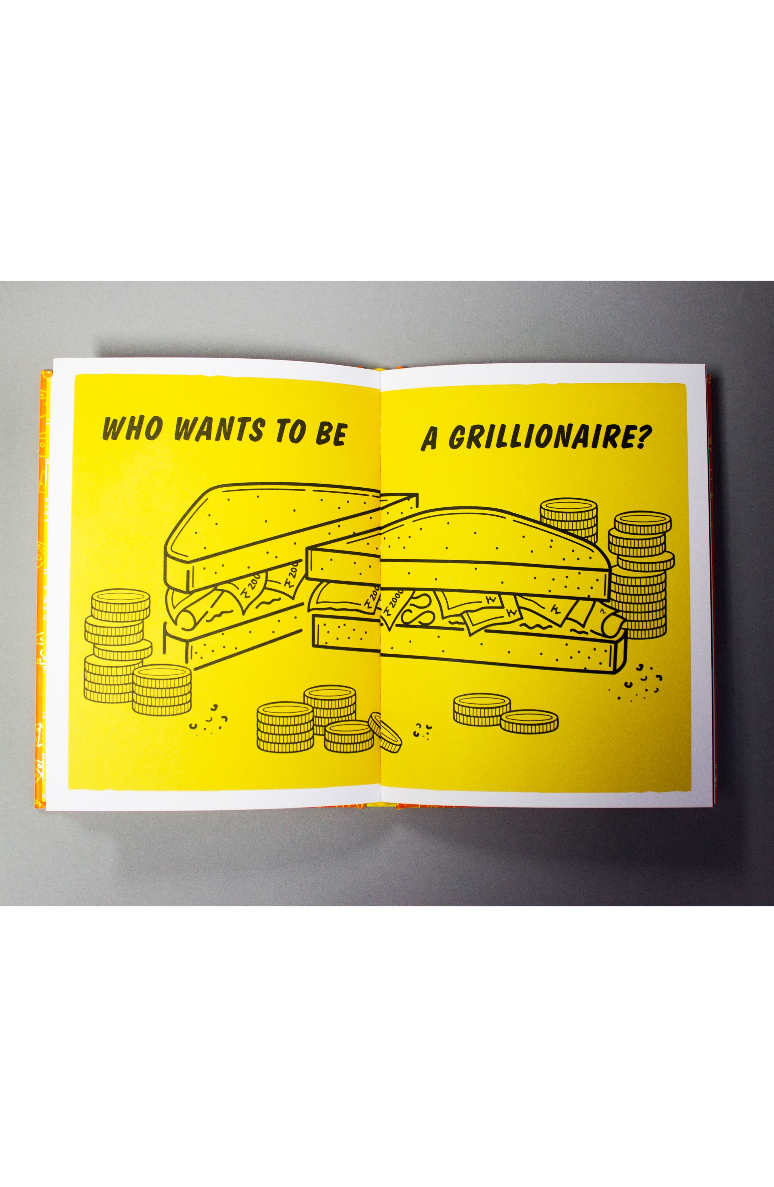 Grill My Cheese Cookbook,                             Alternate thumbnail 4, color,                             YELLOW