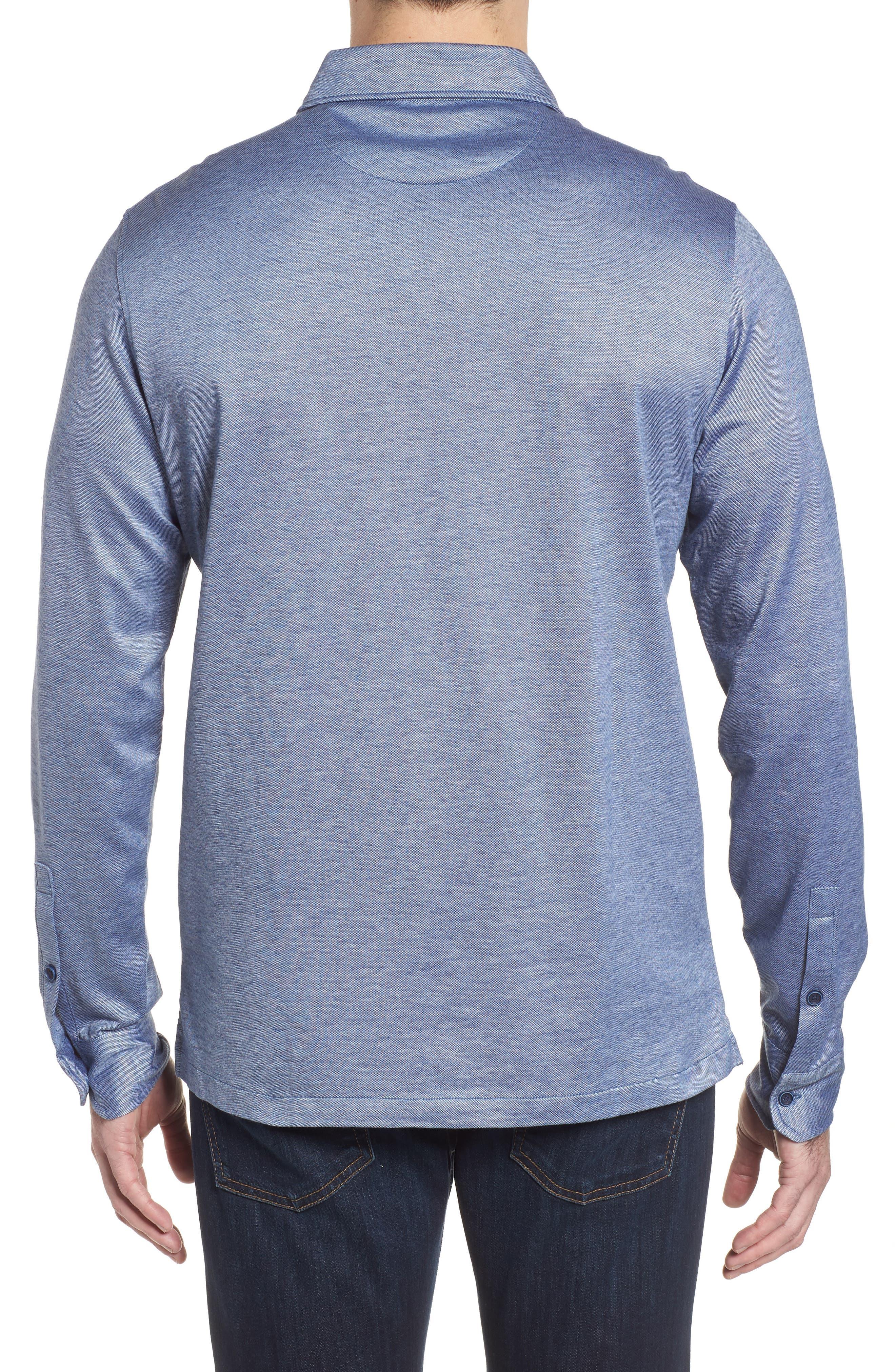 Regular Fit Silk Blend Sport Shirt,                             Alternate thumbnail 8, color,