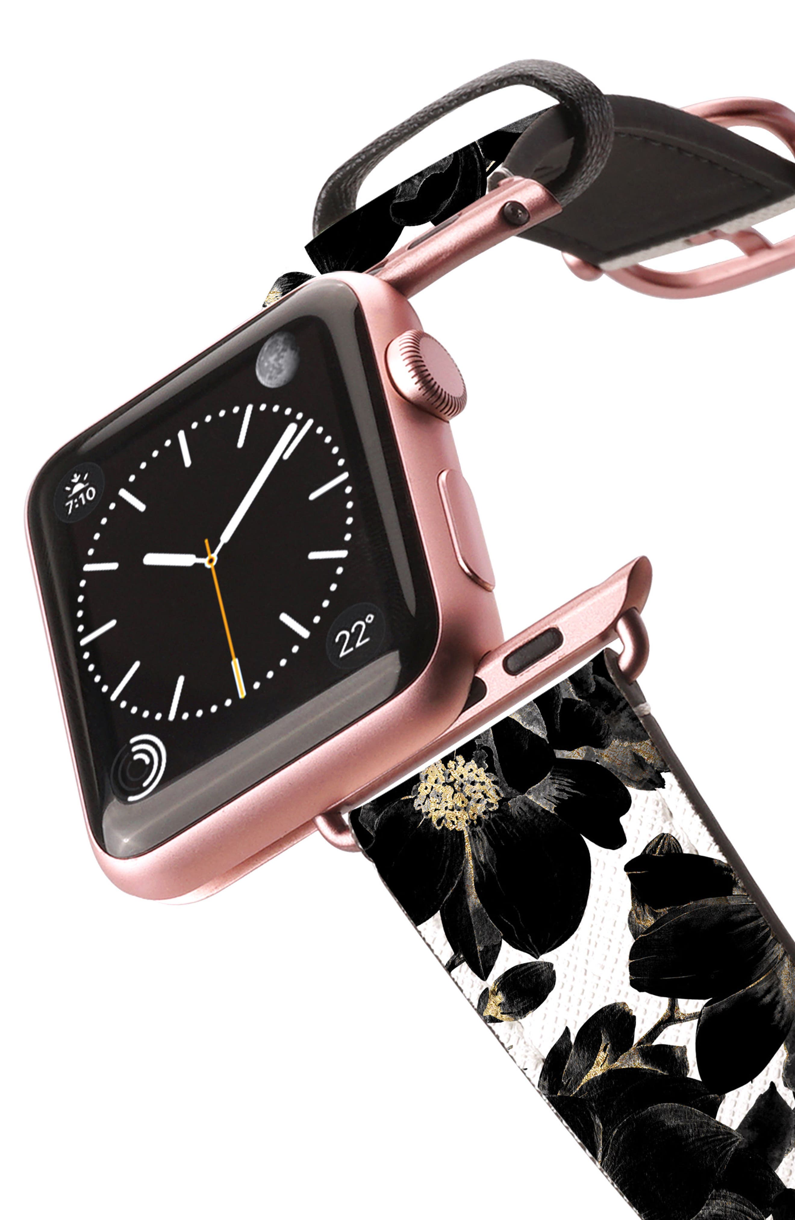 Saffiano Faux Leather Apple Watch Strap,                             Alternate thumbnail 15, color,