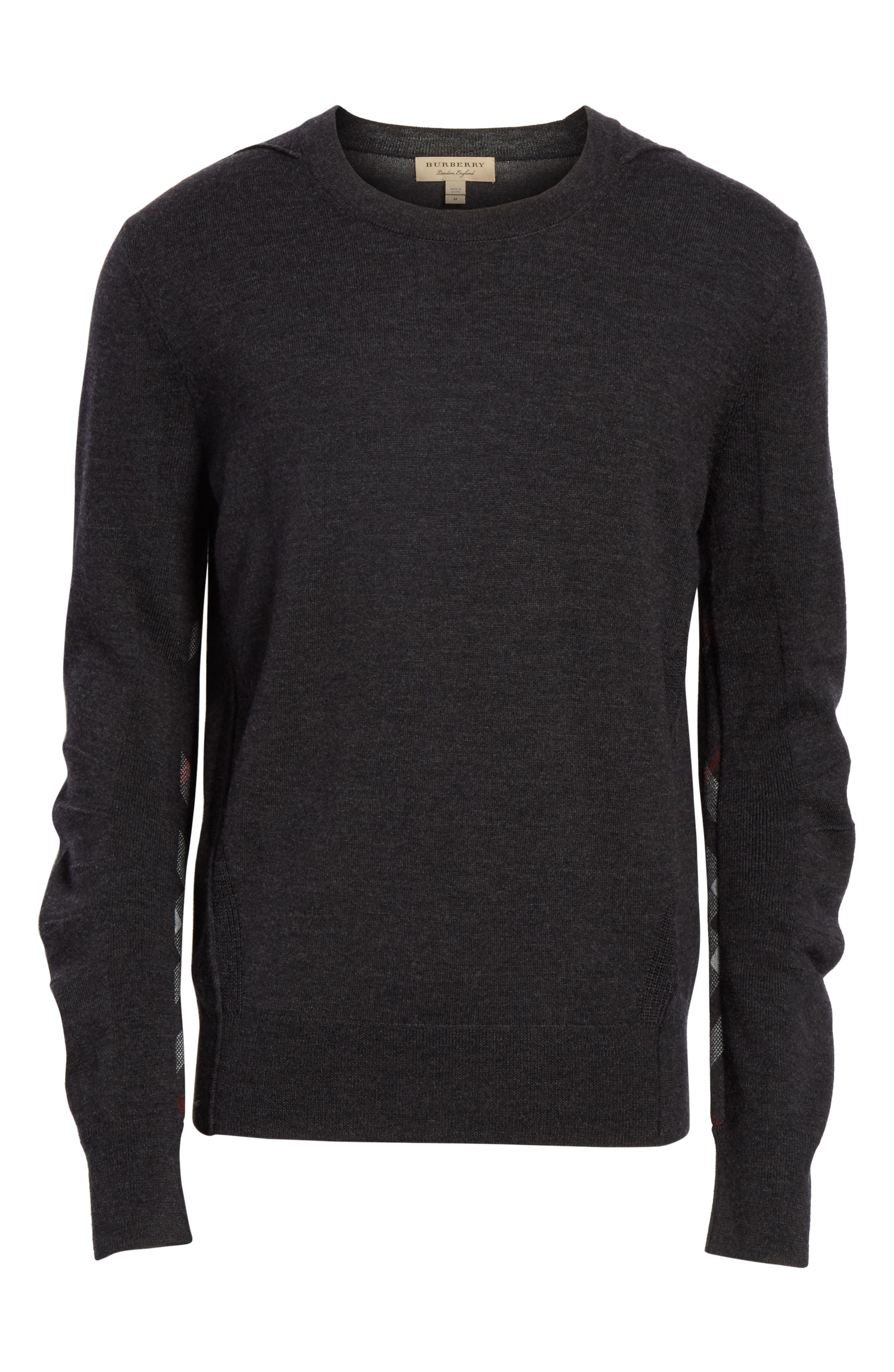 Carter Merino Wool Crewneck Sweater,                             Alternate thumbnail 17, color,