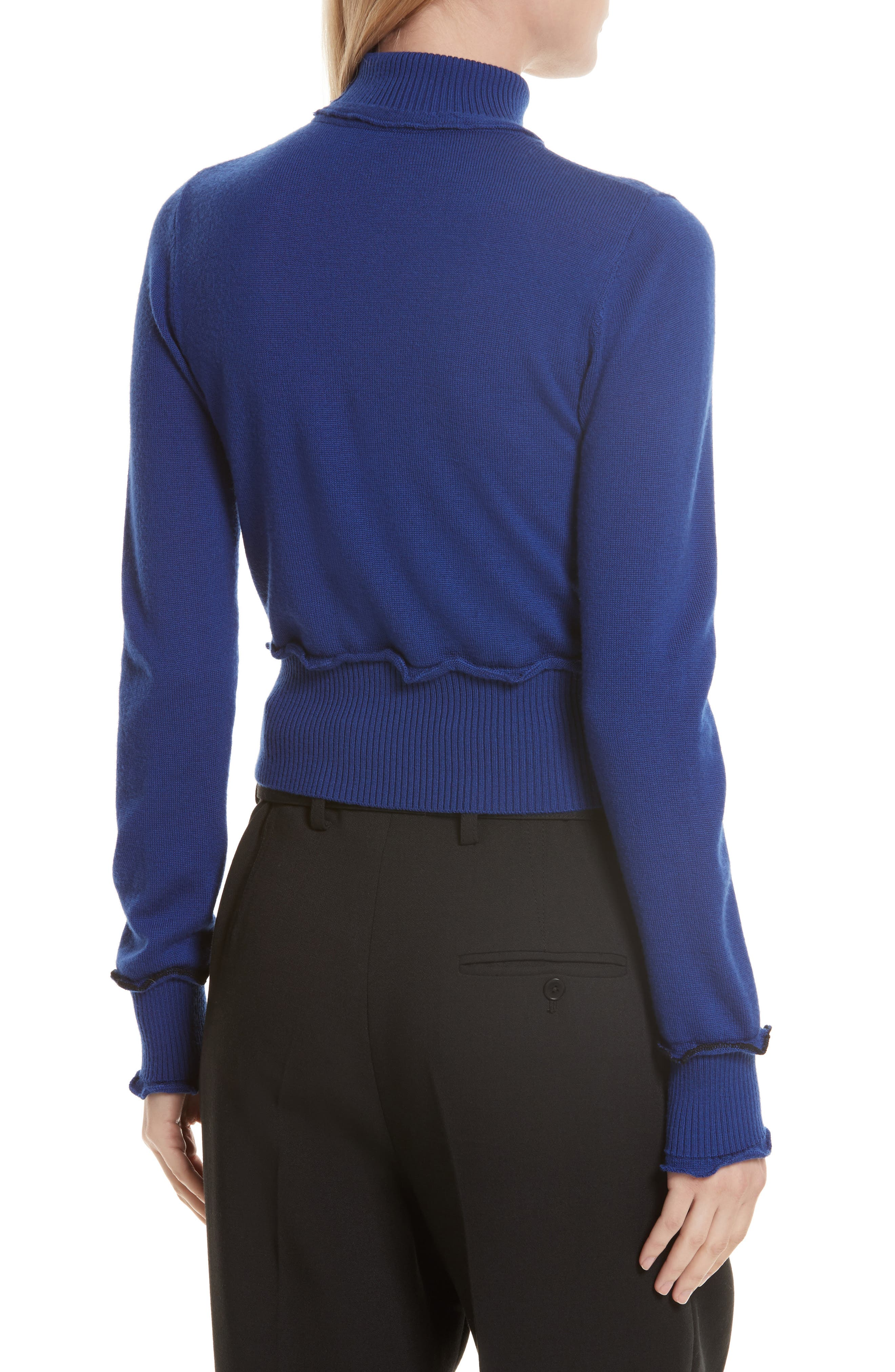 Puffy Cable Turtleneck Sweater,                             Alternate thumbnail 2, color,                             430