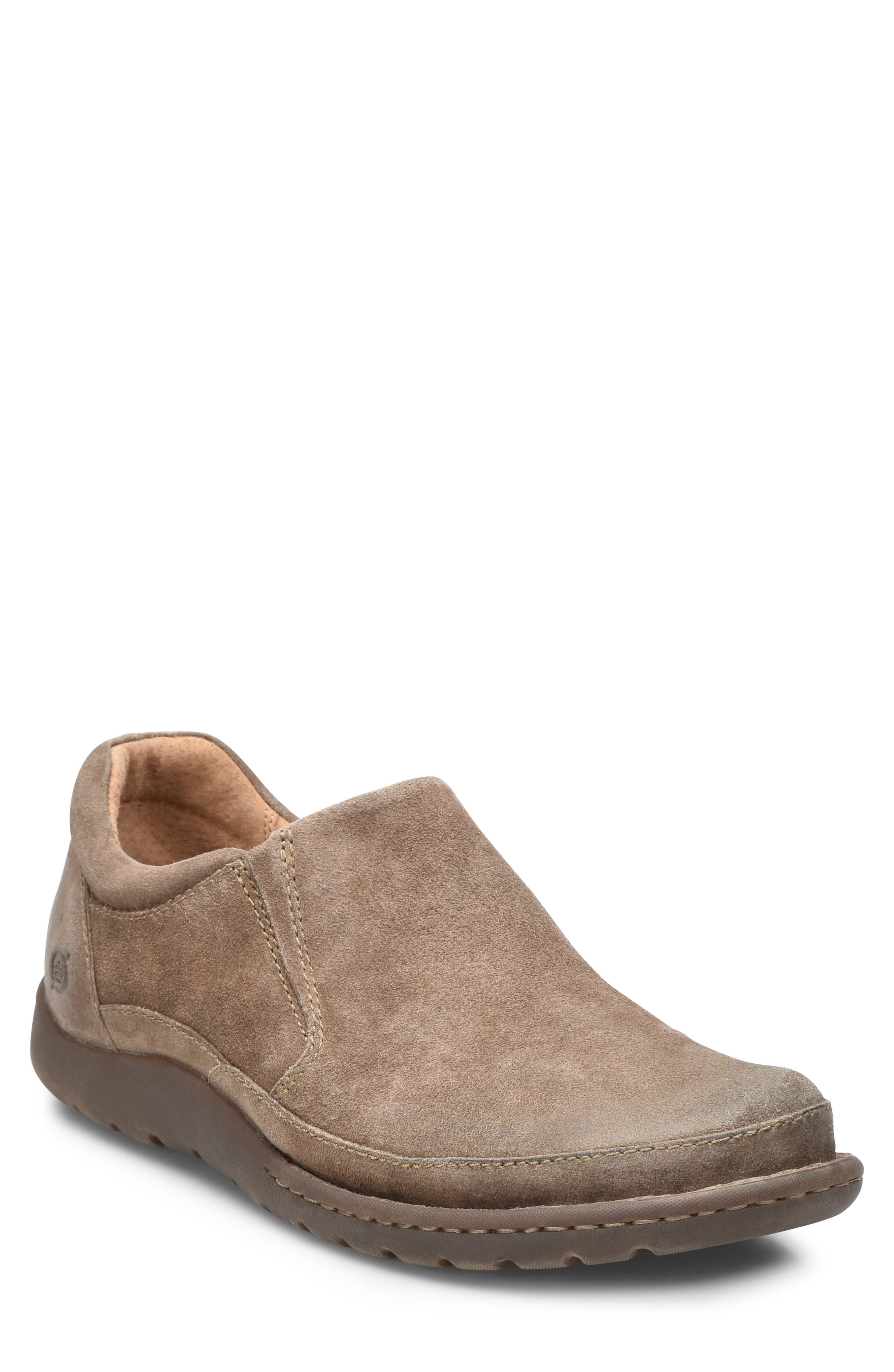 Nigel Slip-On,                             Main thumbnail 1, color,                             TAUPE LEATHER