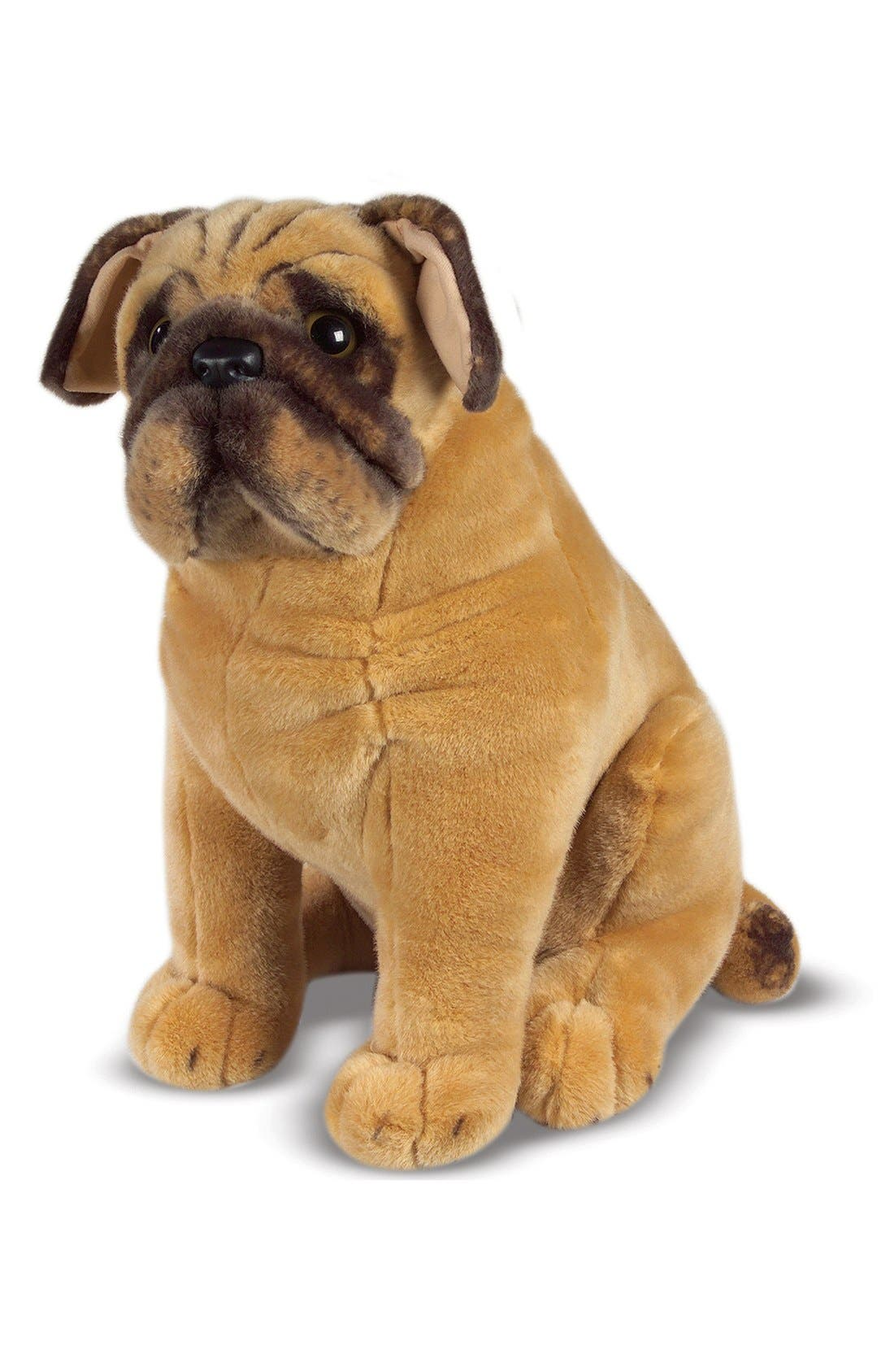 Oversized Pug,                         Main,                         color, BROWN