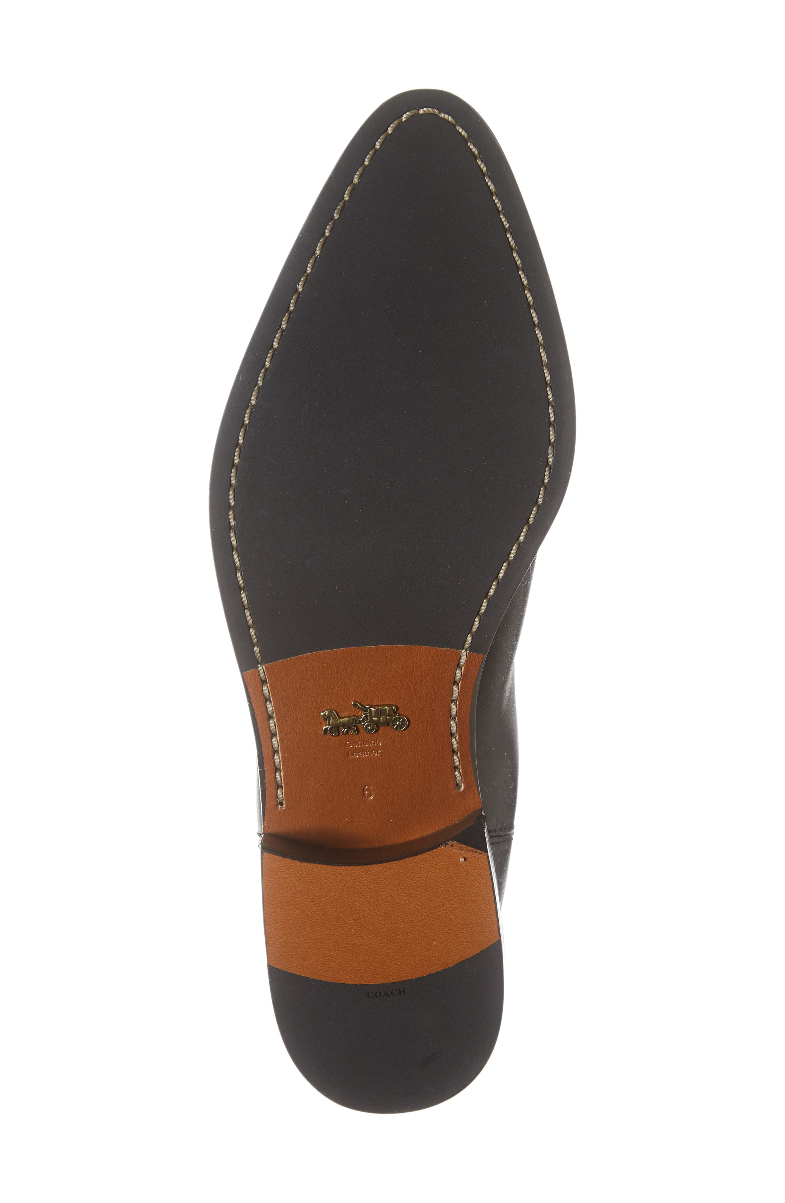 Bowery Chelsea Bootie,                             Alternate thumbnail 6, color,                             BLACK LEATHER