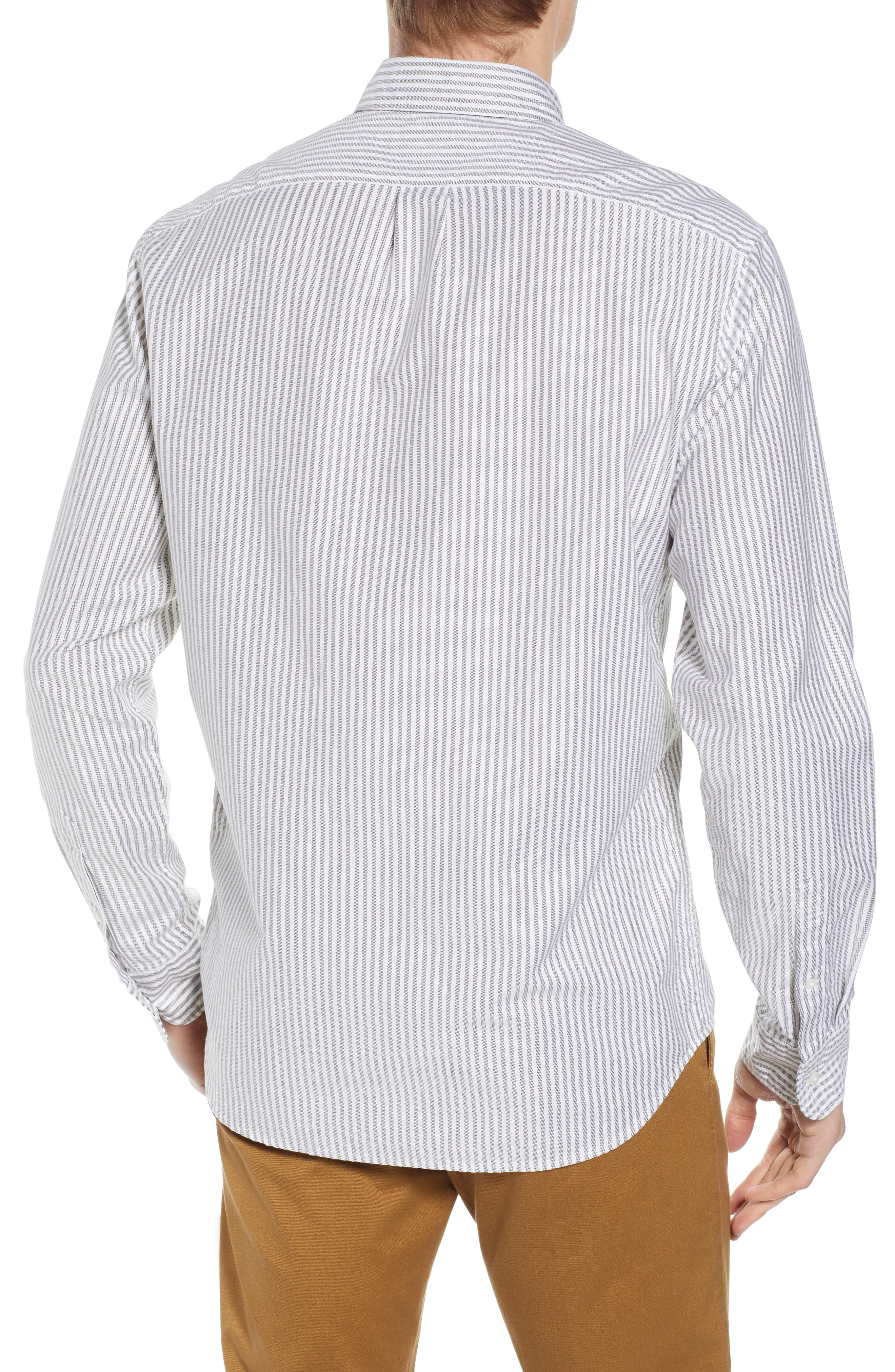 Slim Fit Stretch Pima Cotton Oxford Shirt,                             Alternate thumbnail 7, color,