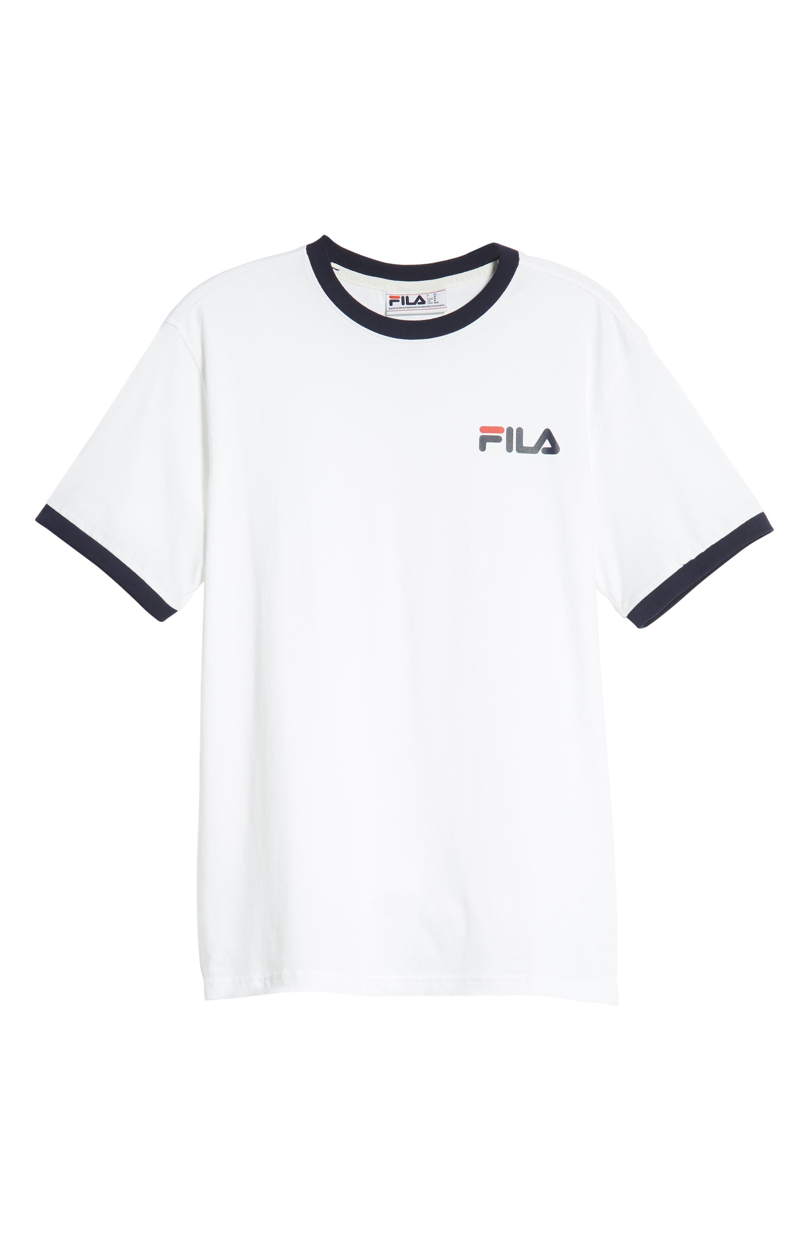 Roscoe Ringer T-Shirt,                             Alternate thumbnail 6, color,                             WHITE/ PEACOAT