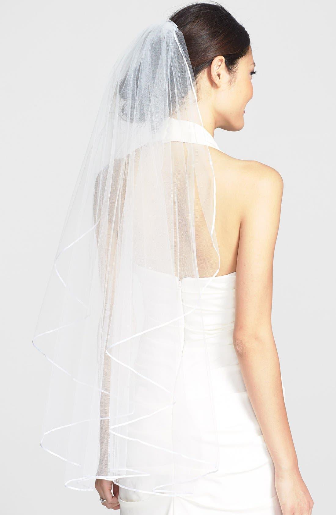 'Mable' Veil,                             Main thumbnail 1, color,                             DIAMOND WHITE