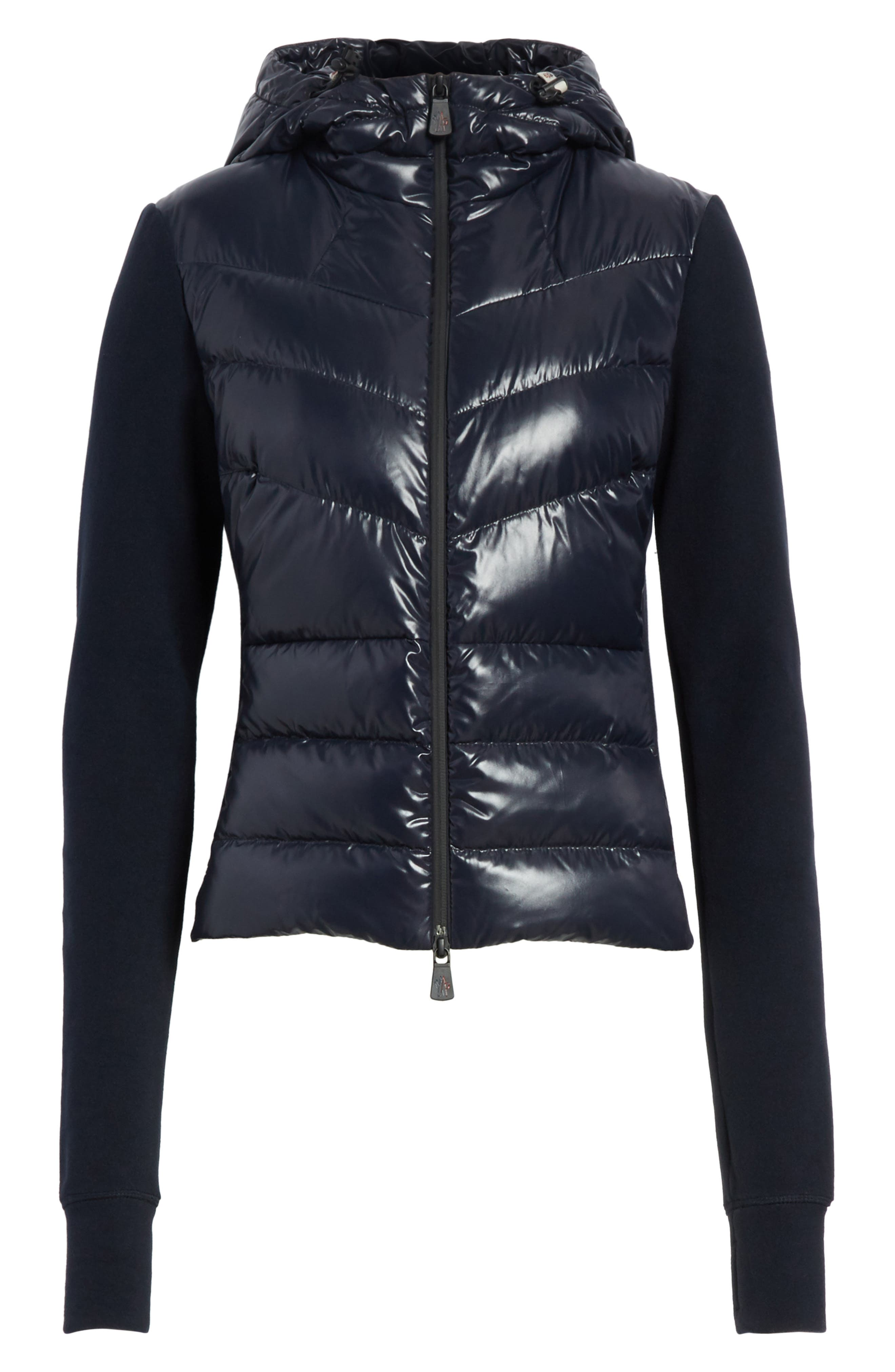 Quilted Front Hooded Jacket,                             Alternate thumbnail 5, color,