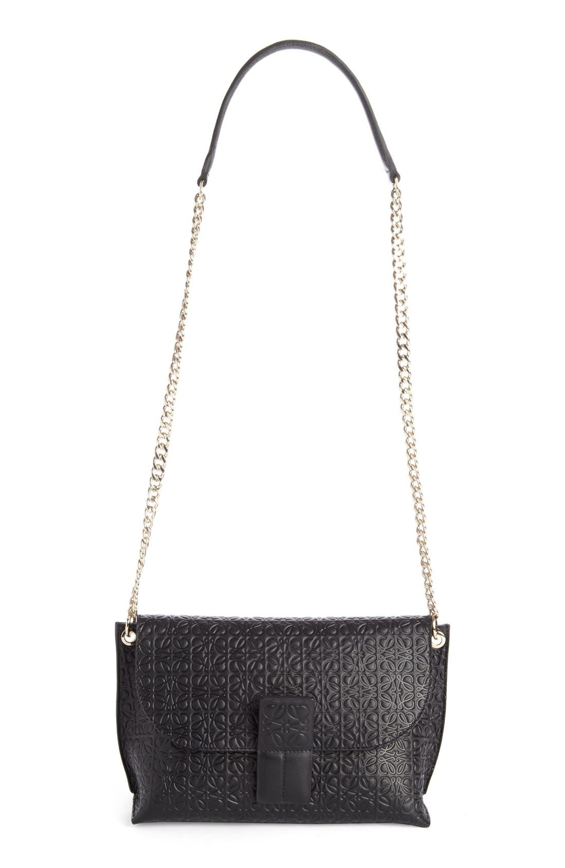 'Avenue' Embossed Calfskin Leather Crossbody Bag,                         Main,                         color, 001
