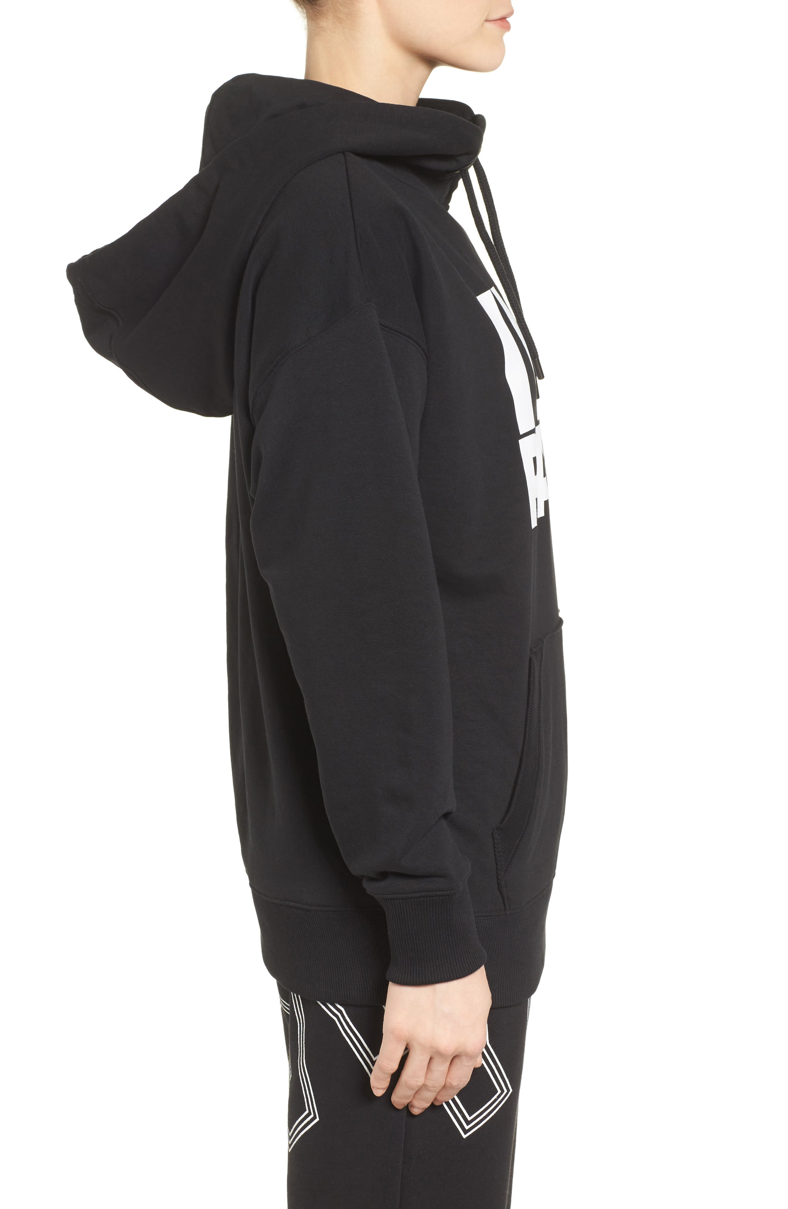 Peached Logo Hoodie,                             Alternate thumbnail 3, color,                             001