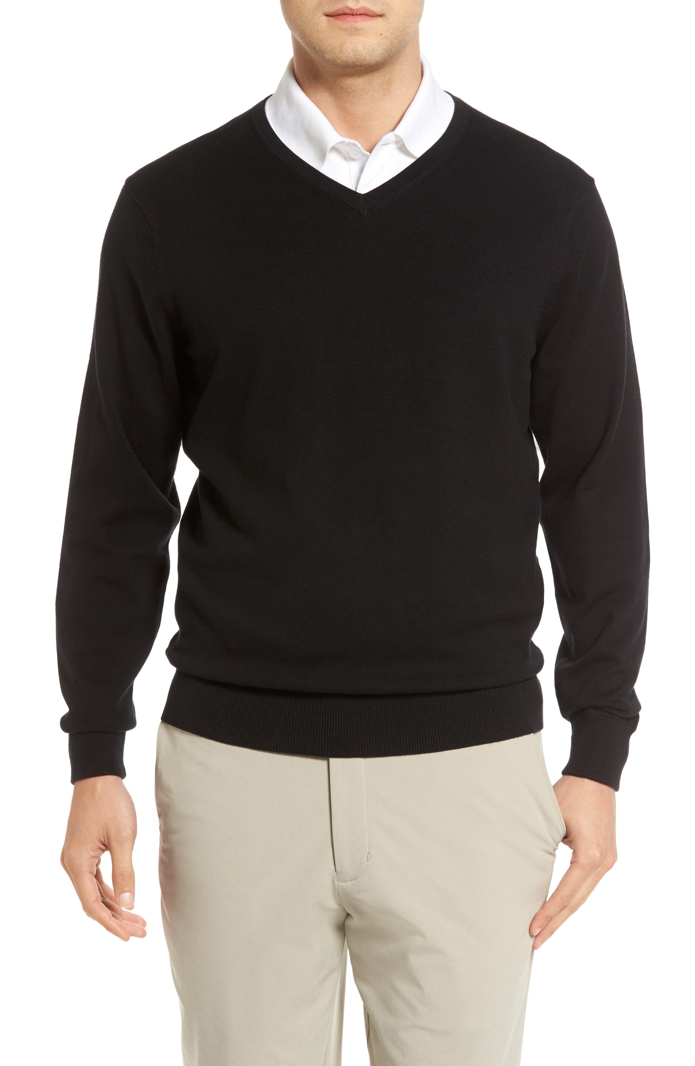 Lakemont V-Neck Sweater,                             Main thumbnail 1, color,                             BLACK