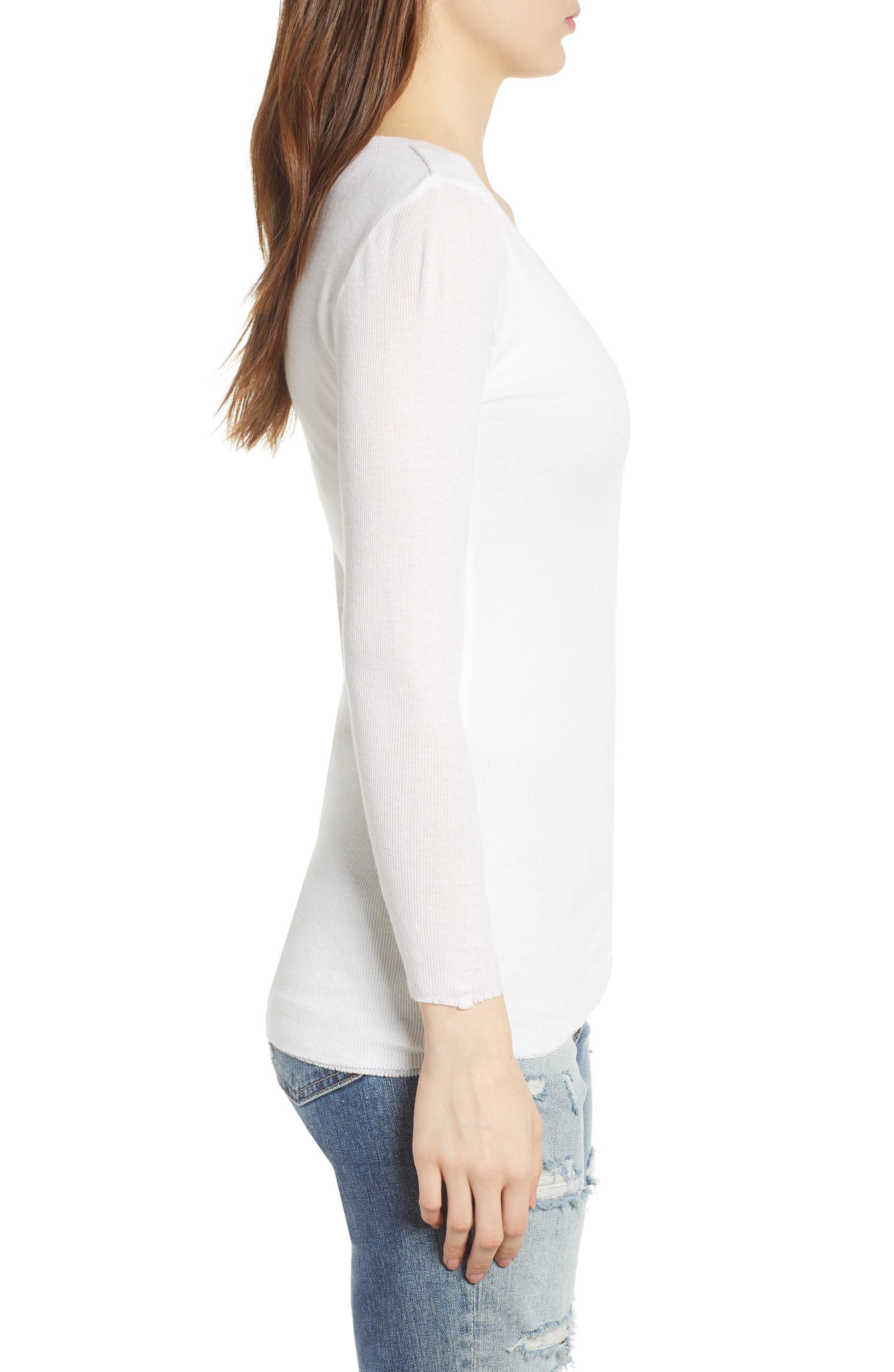 Ribbed Cotton & Cashmere Henley,                             Alternate thumbnail 7, color,