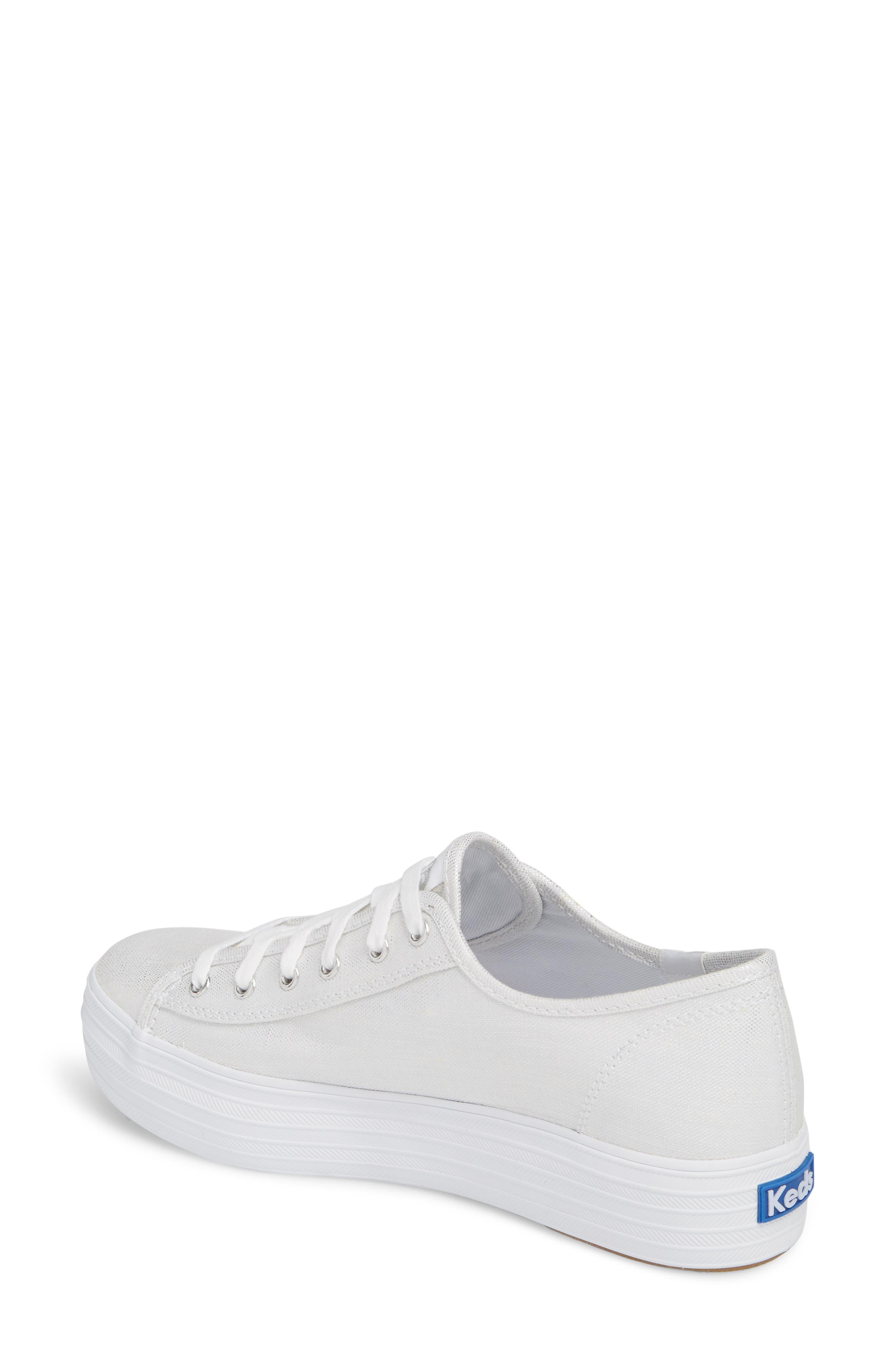 Triple Kick Metallic Linen Sneaker,                             Alternate thumbnail 2, color,                             040