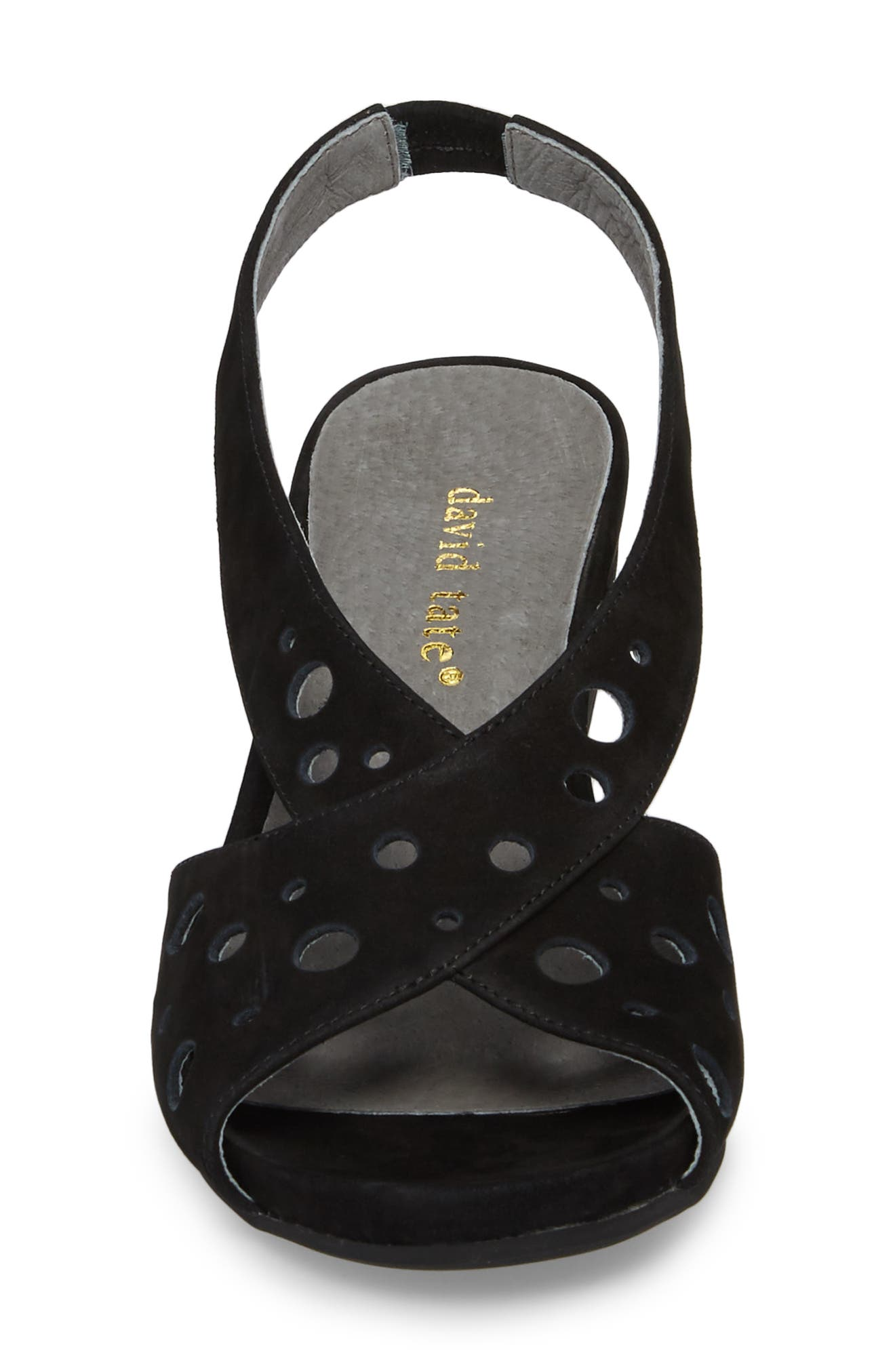 Yummy Wedge,                             Alternate thumbnail 4, color,                             BLACK NUBUCK