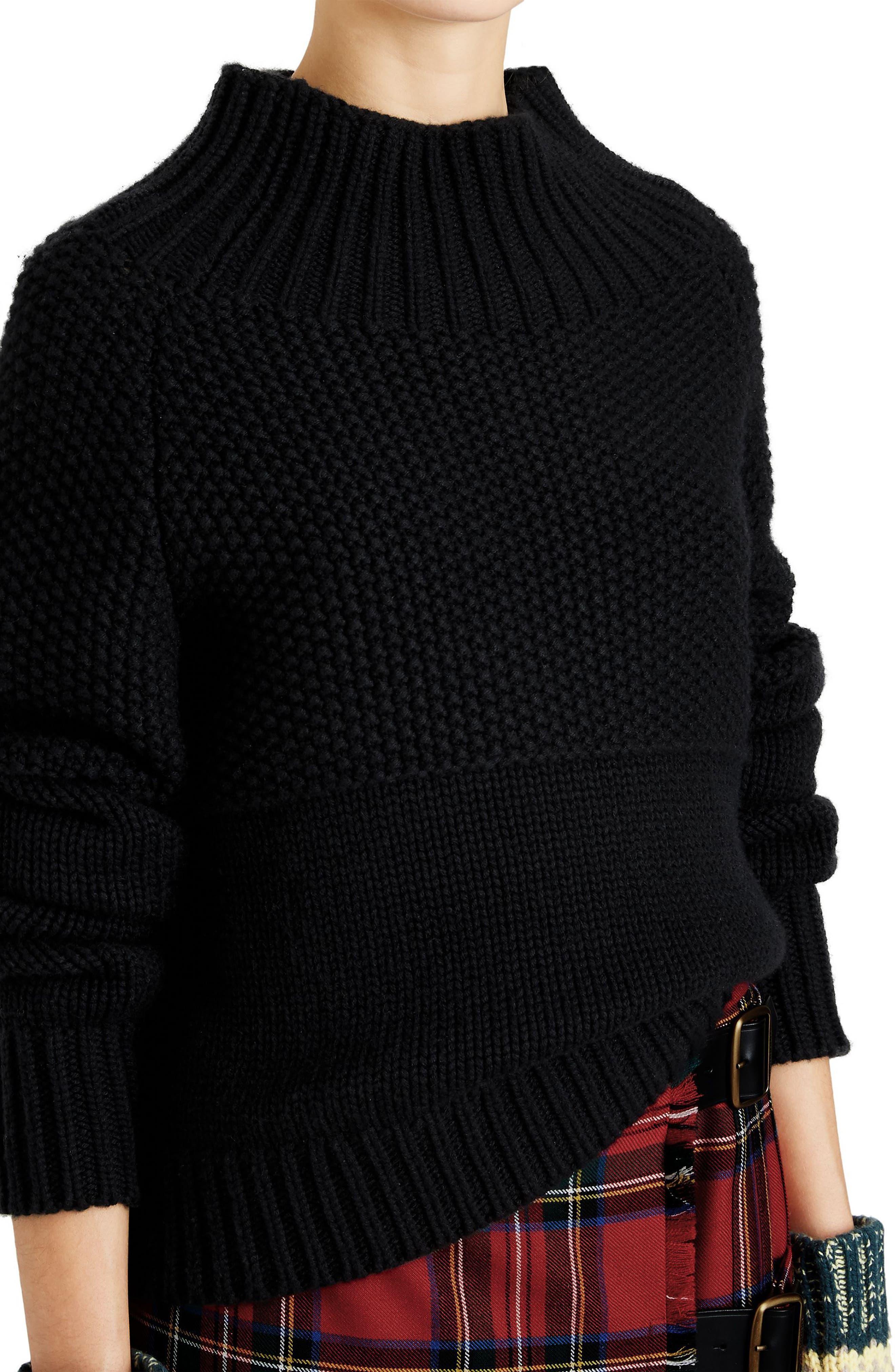 Dawson Cashmere Sweater,                             Alternate thumbnail 3, color,                             001