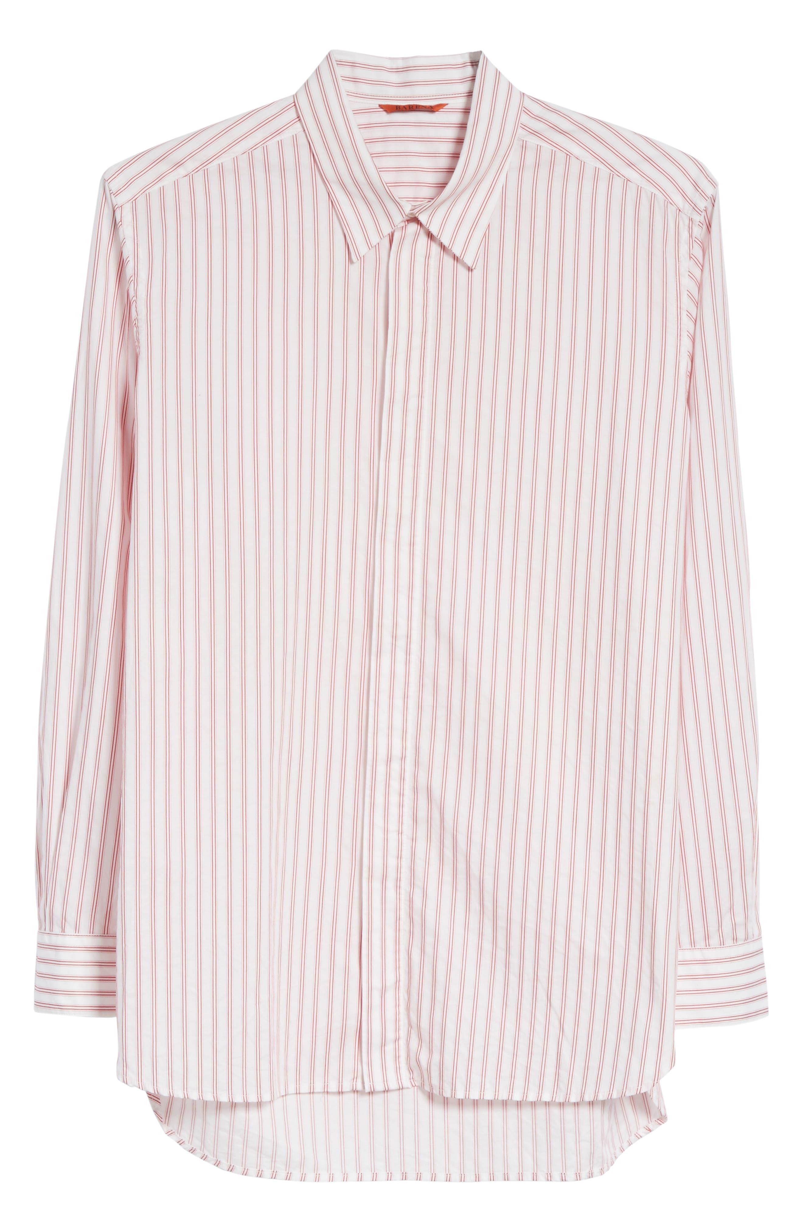 Aega Striped Sport Shirt,                             Alternate thumbnail 6, color,                             110